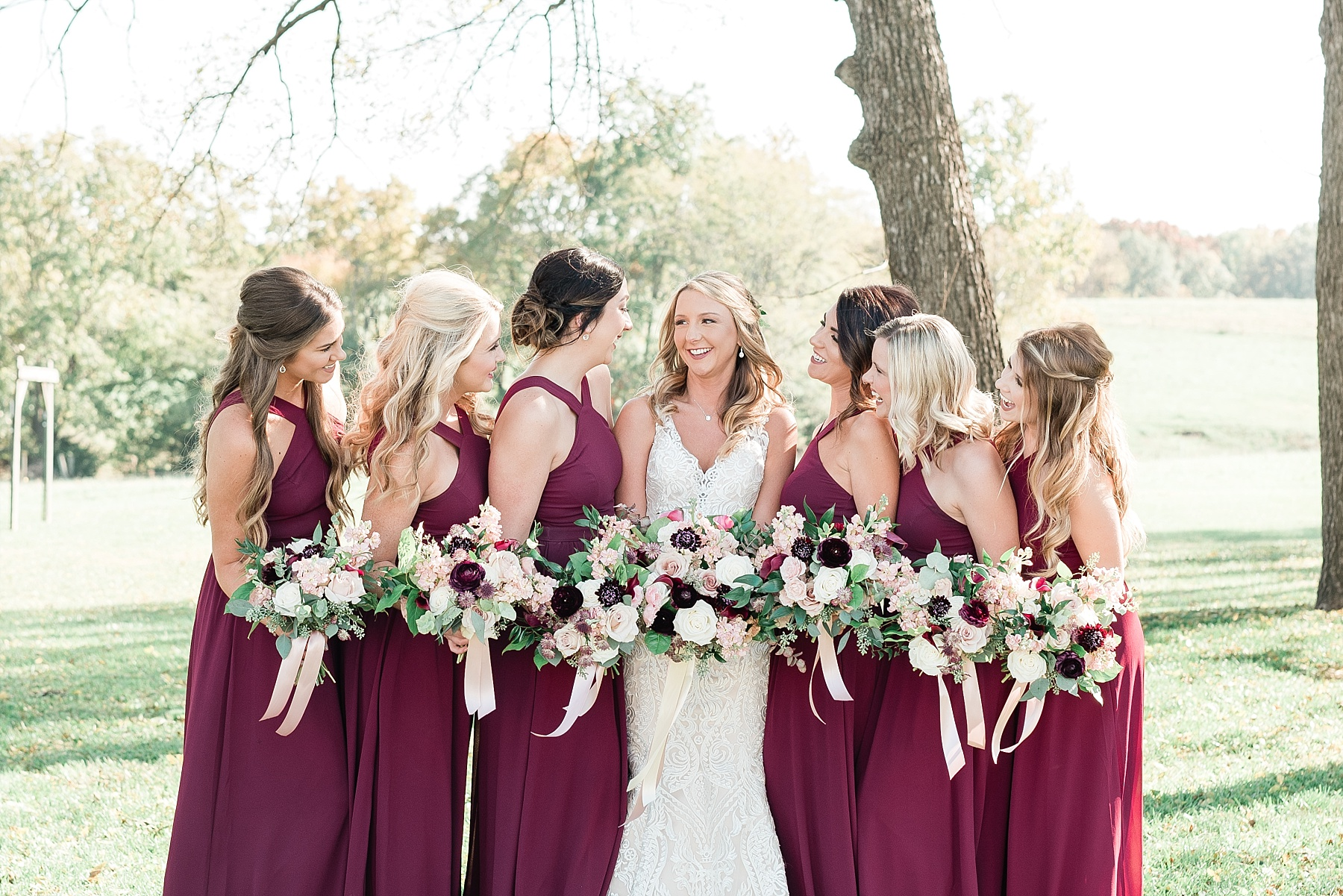 Golden Autumn Outdoor Wedding with Ivory, Bergundy, and Blush Color Palette at Blue Bell Farms  by Kelsi Kliethermes Photography_0018.jpg