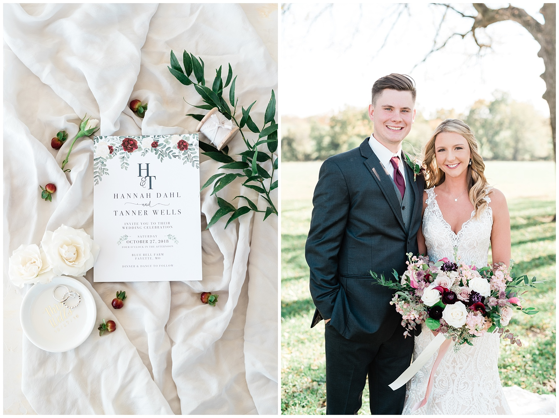 Golden Autumn Outdoor Wedding with Ivory, Bergundy, and Blush Color Palette at Blue Bell Farms  by Kelsi Kliethermes Photography_0053.jpg