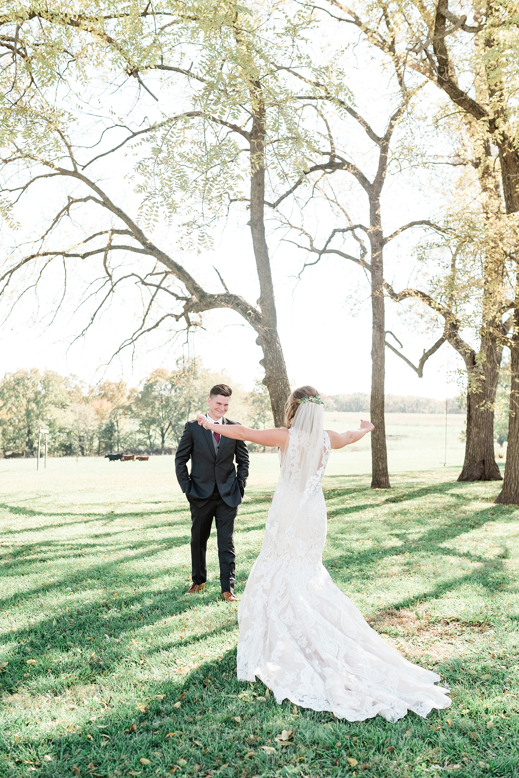 Golden Autumn Outdoor Wedding with Ivory, Bergundy, and Blush Color Palette at Blue Bell Farms  by Kelsi Kliethermes Photography_0064.jpg