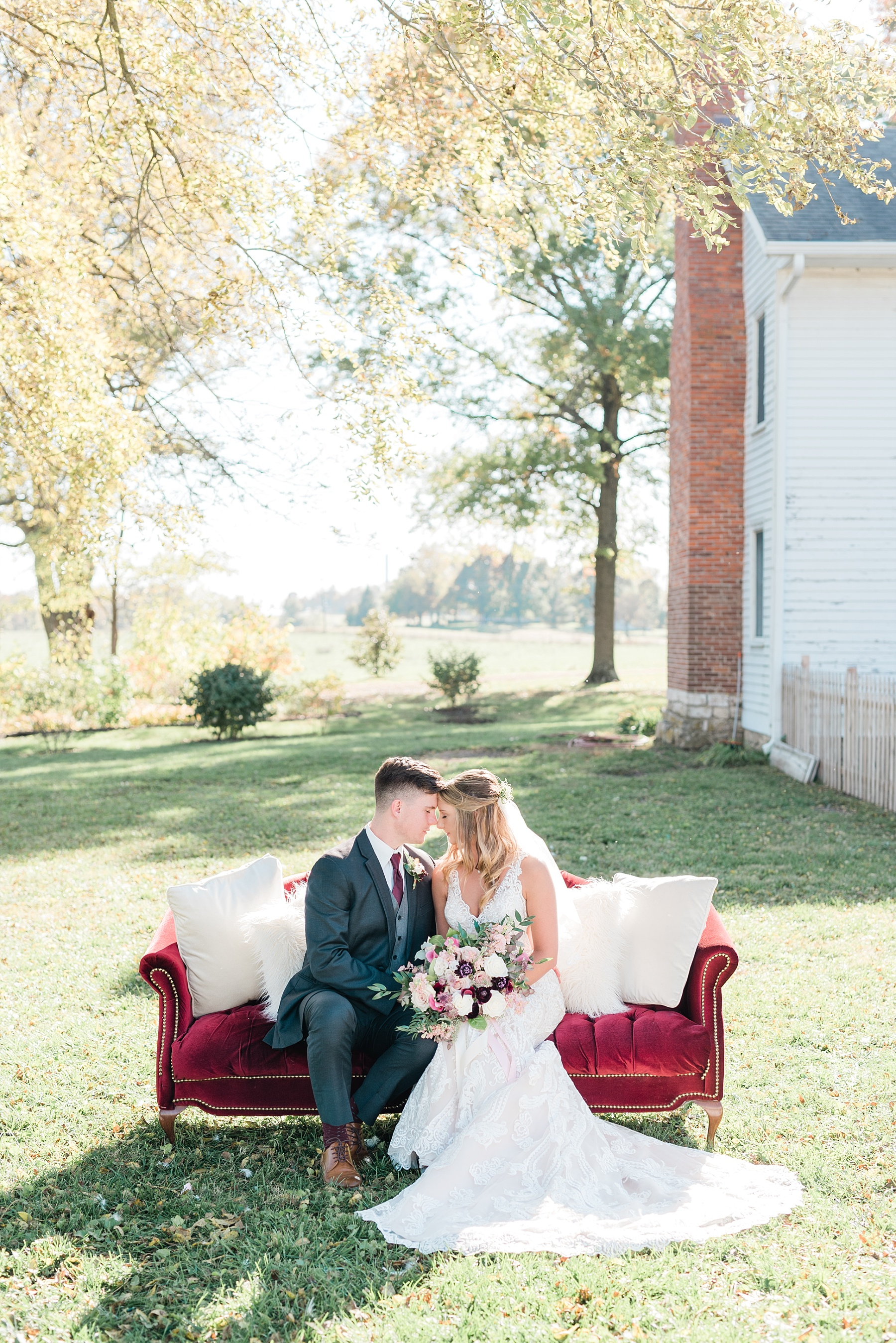 Golden Autumn Outdoor Wedding with Ivory, Bergundy, and Blush Color Palette at Blue Bell Farms  by Kelsi Kliethermes Photography_0069.jpg