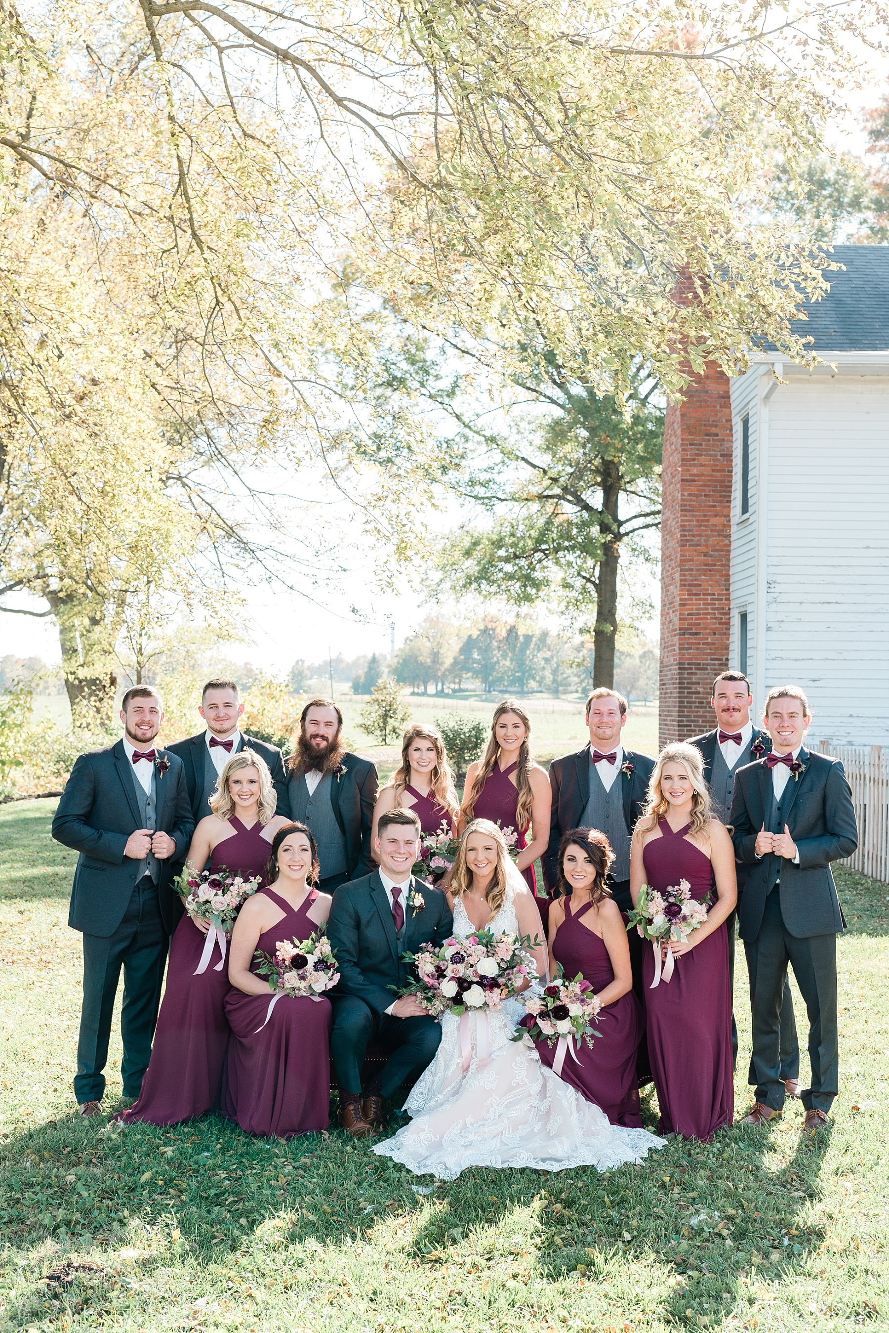 Golden Autumn Outdoor Wedding with Ivory, Bergundy, and Blush Color Palette at Blue Bell Farms  by Kelsi Kliethermes Photography_0077.jpg