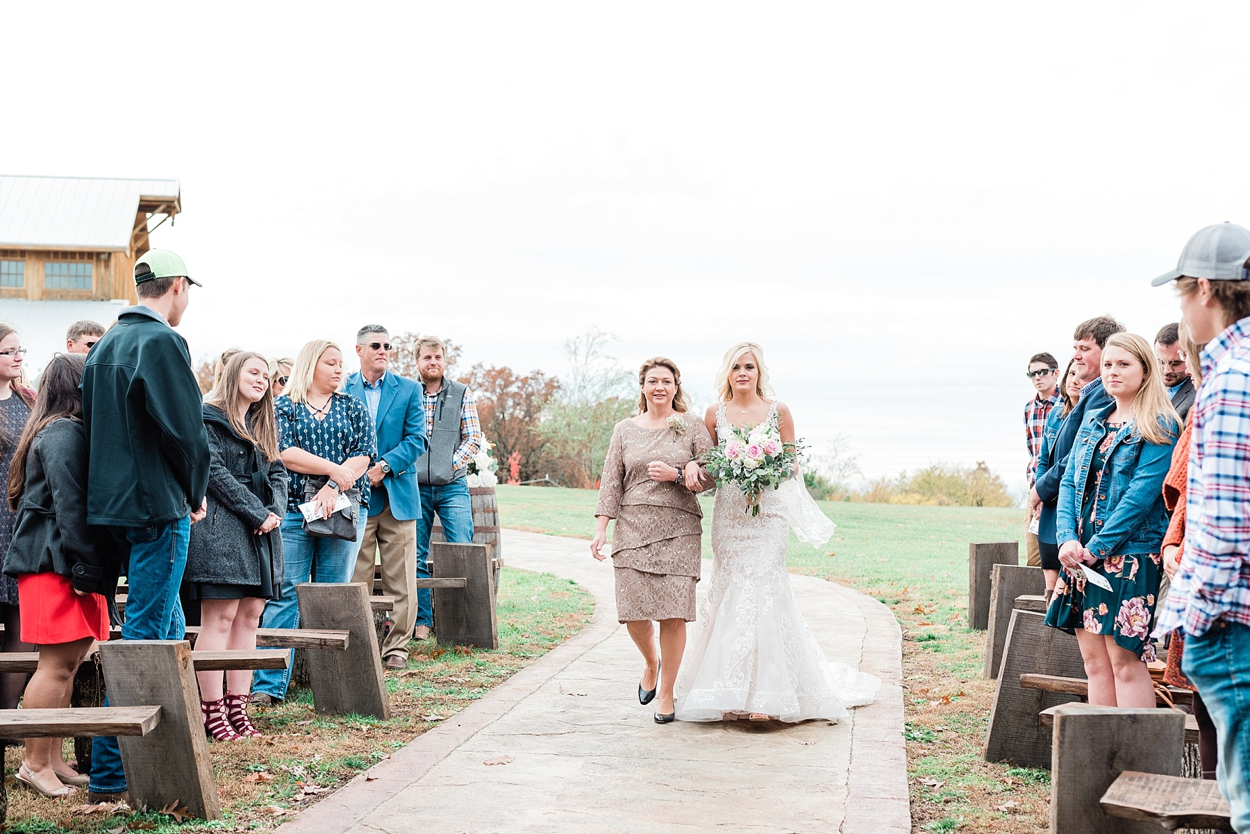 mother walks daughter down the aisle