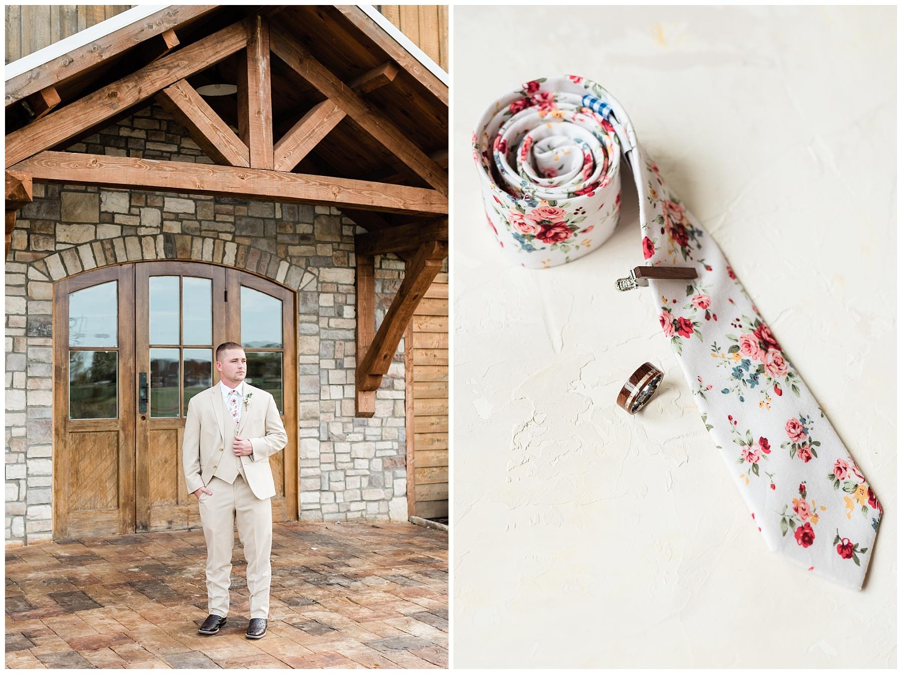 floral groom tie