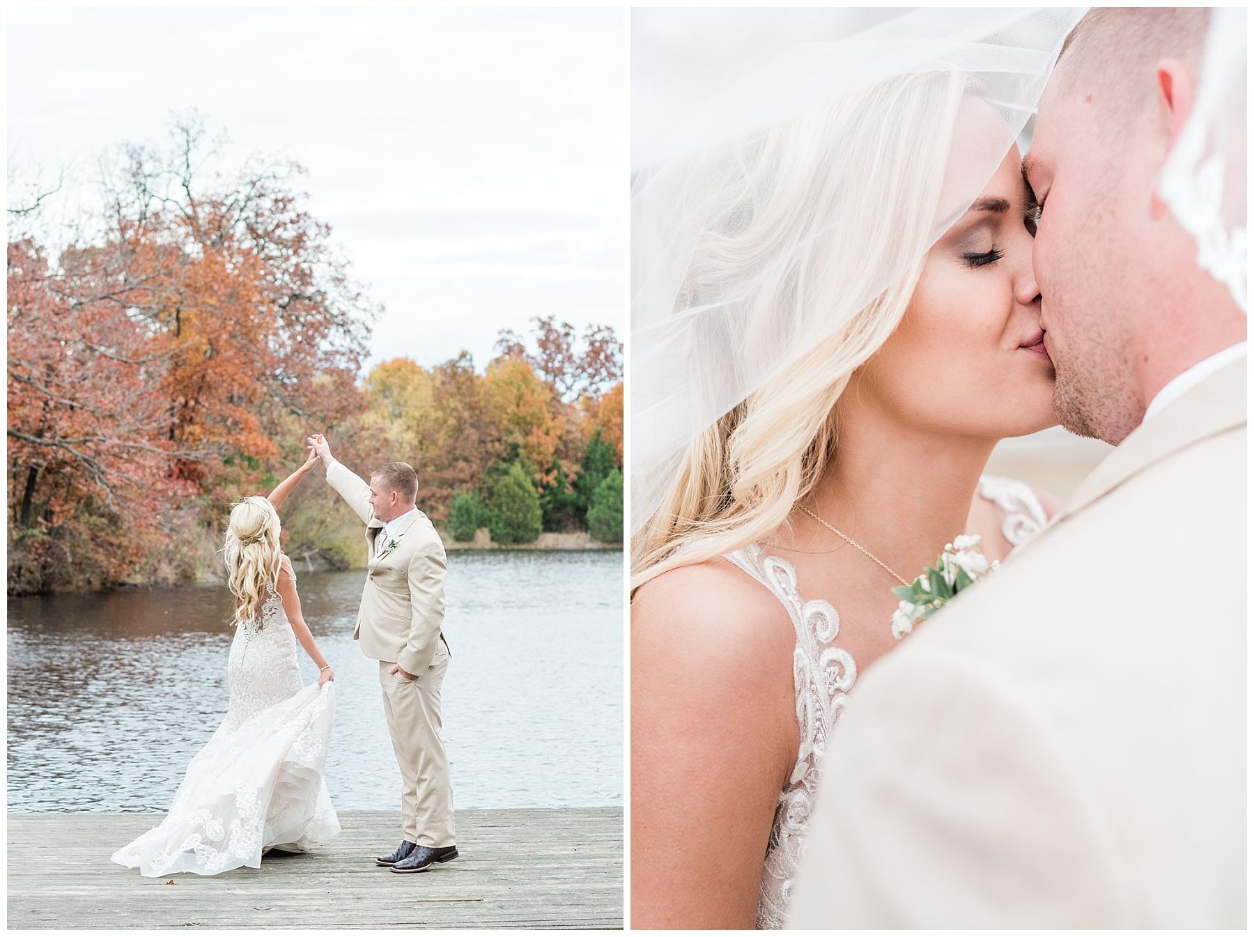 Lakeside Wedding in Fall at Mighty Oak Lodge by Misouri Wedding Photographer Kelsi Kliethermes Photography_0032.jpg