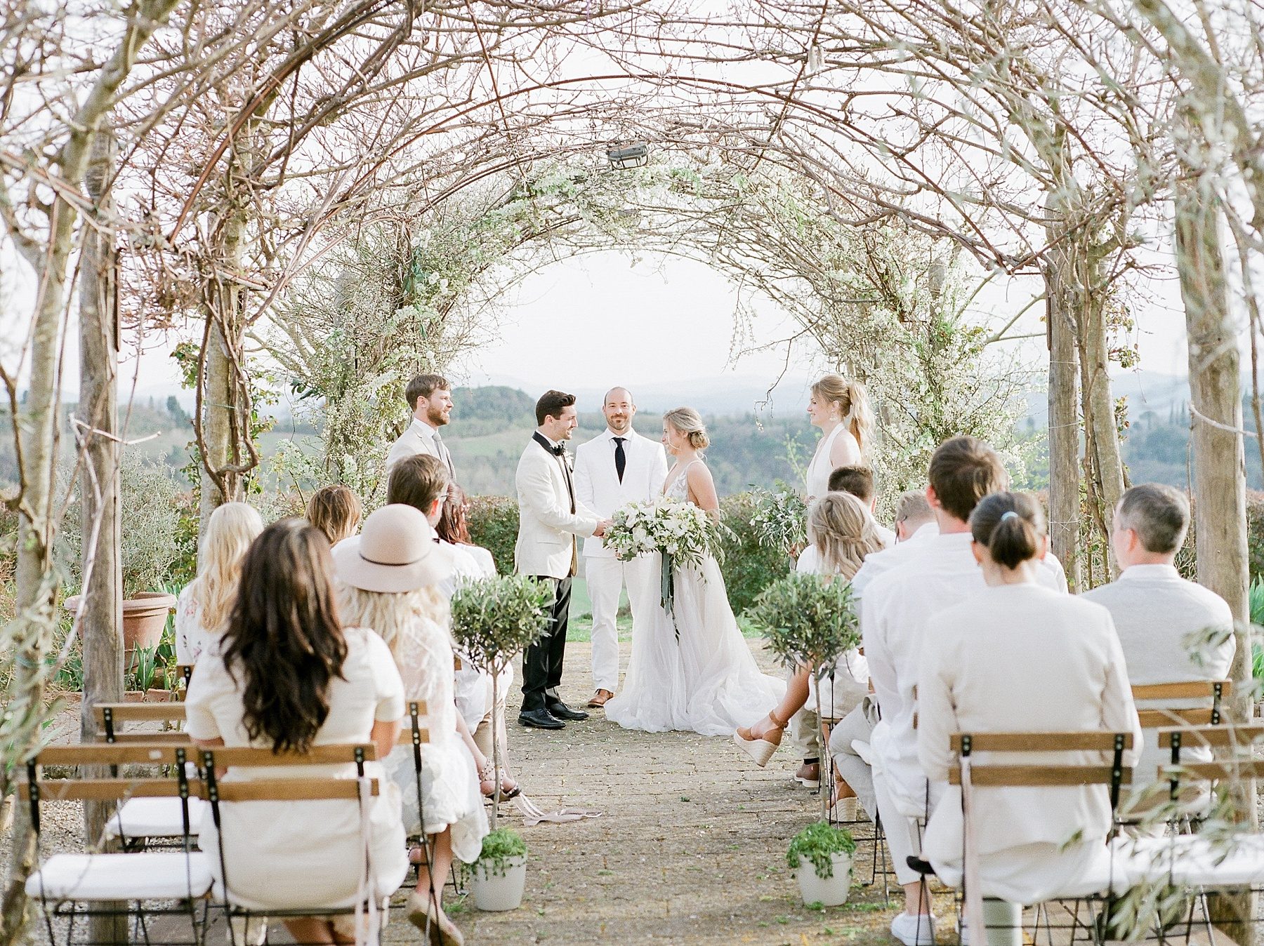 All White Destination Wedding in the Hills of Tuscany Italy at Estate Borgo Petrognano by Kelsi Kliethermes Photography_0018.jpg