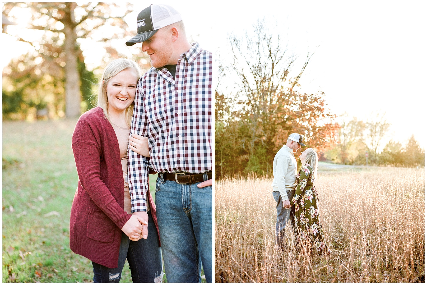 Perfect Sunset Engagement Session in Fall by Kelsi Kliethermes Photography Kansas City Missouri Wedding Photographer_0011.jpg