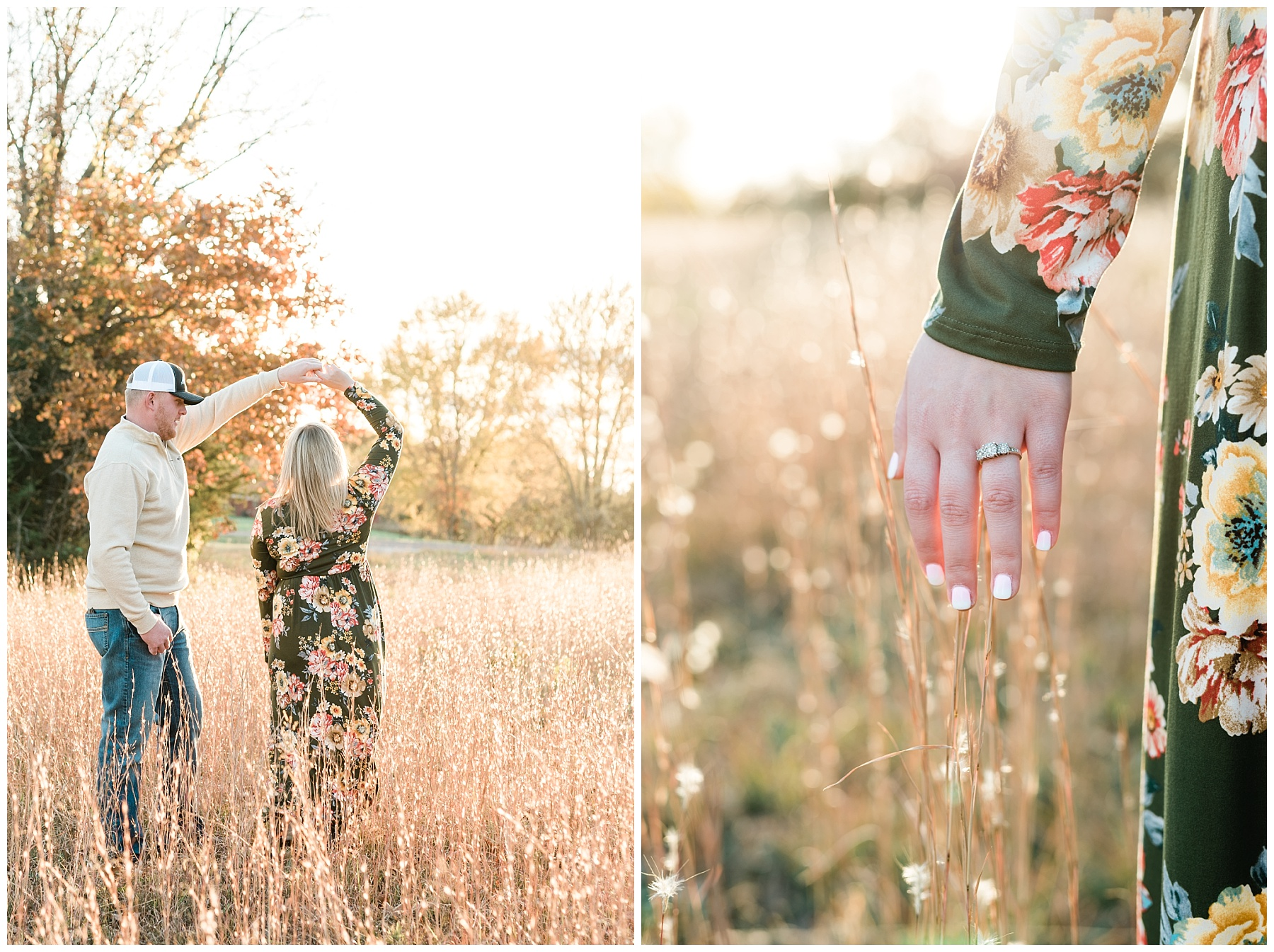 Perfect Sunset Engagement Session in Fall by Kelsi Kliethermes Photography Kansas City Missouri Wedding Photographer_0008.jpg