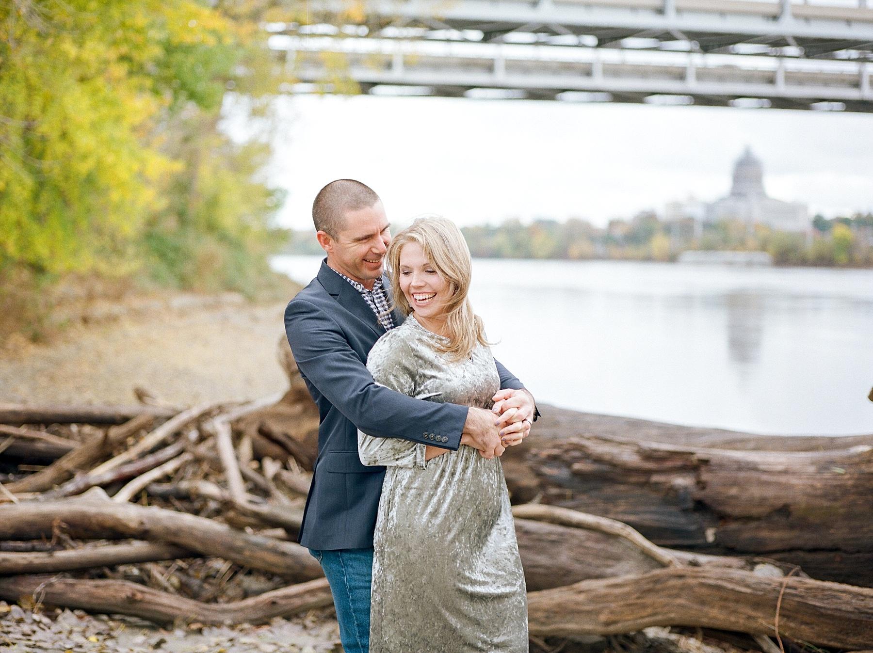 Ten Year Anniversary Session on Shore of Missouri River by Kelsi Kliethermes Photography Kansas City Missouri Wedding Photographer_0002.jpg