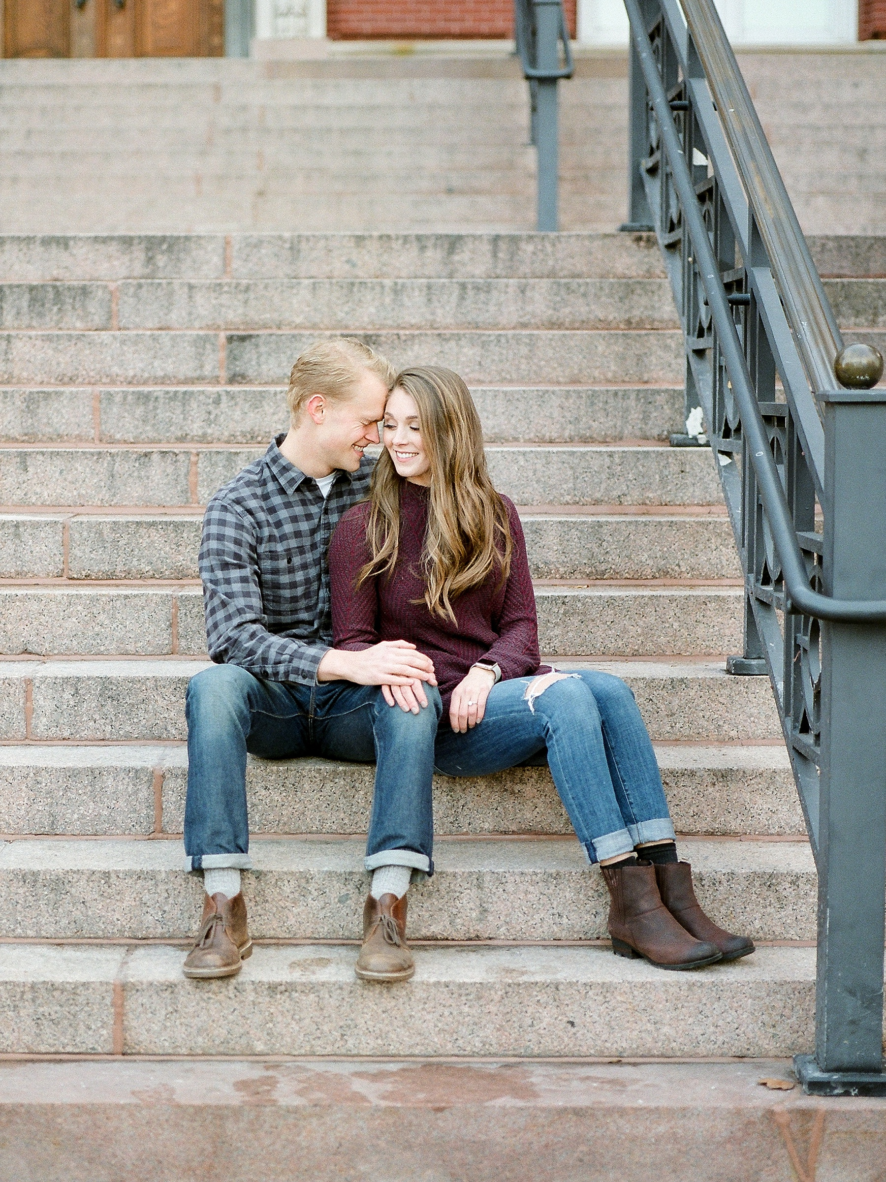 Downtown Jefferson City Engagement Session in Winter at Old Shoe Factory by Kelsi Kliethermes Photography Kansas City Missouri Wedding Photographer_0013.jpg