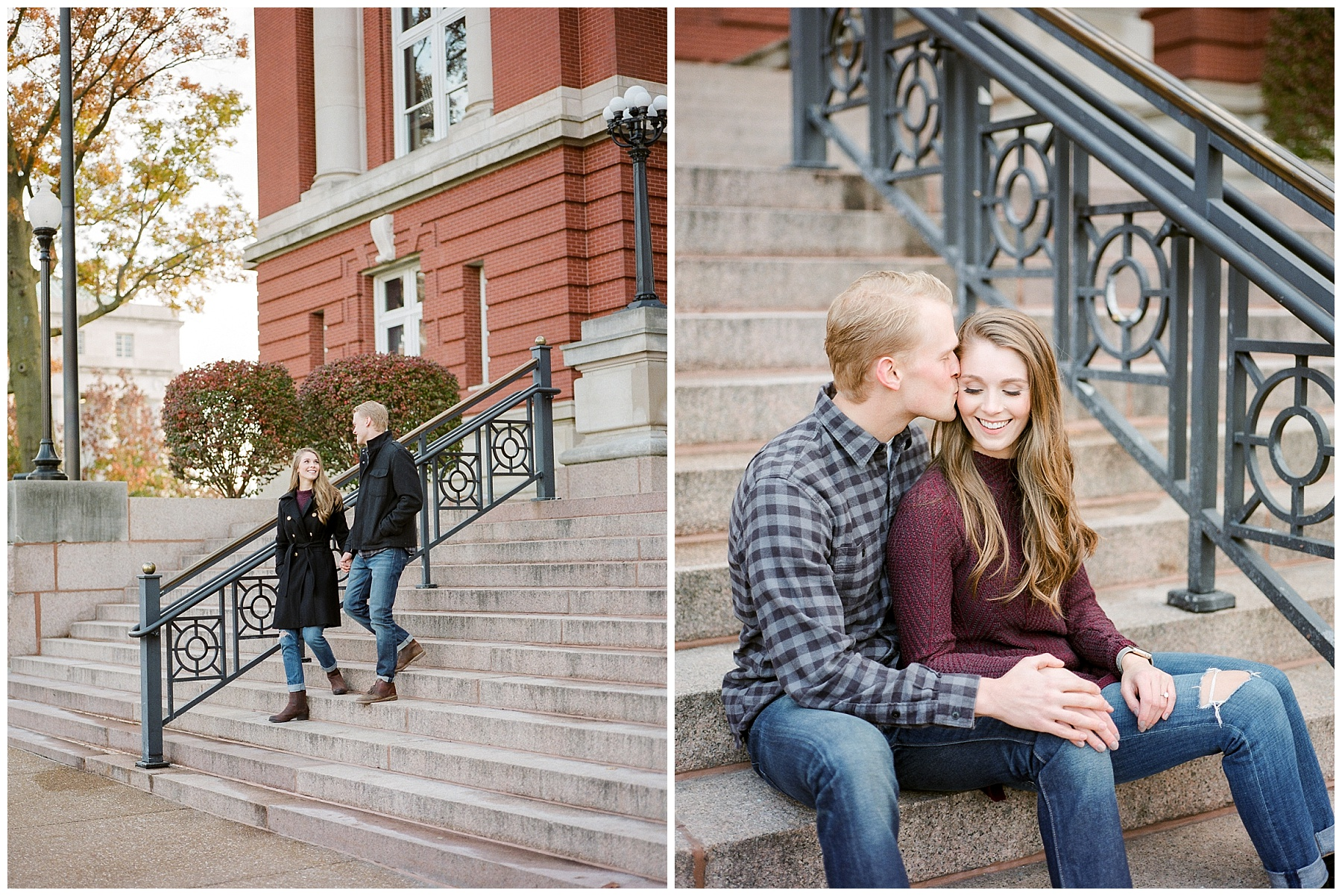 Downtown Jefferson City Engagement Session in Winter at Old Shoe Factory by Kelsi Kliethermes Photography Kansas City Missouri Wedding Photographer_0003.jpg
