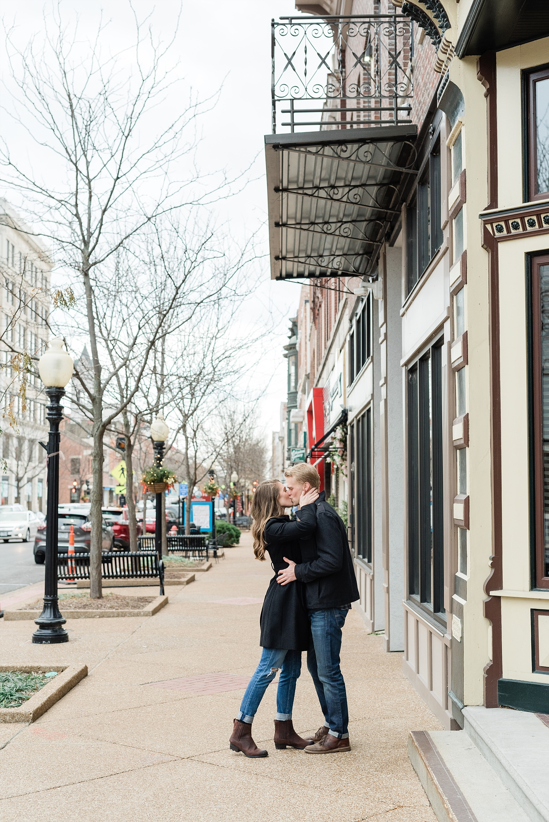 Downtown Jefferson City Engagement Session in Winter at Old Shoe Factory by Kelsi Kliethermes Photography Kansas City Missouri Wedding Photographer_0008.jpg