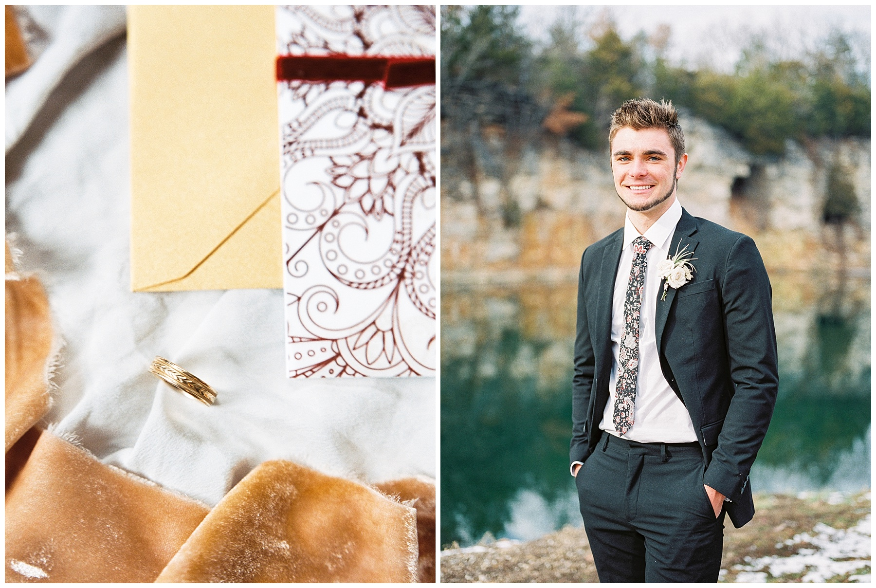 Snowy Winter Wedding at Wildcliff Events Lake With Earthy Jewel Tones and Organic Refined Style by Kelsi Kliethermes Photography Kansas City Missouri Wedding Photographer_0088.jpg