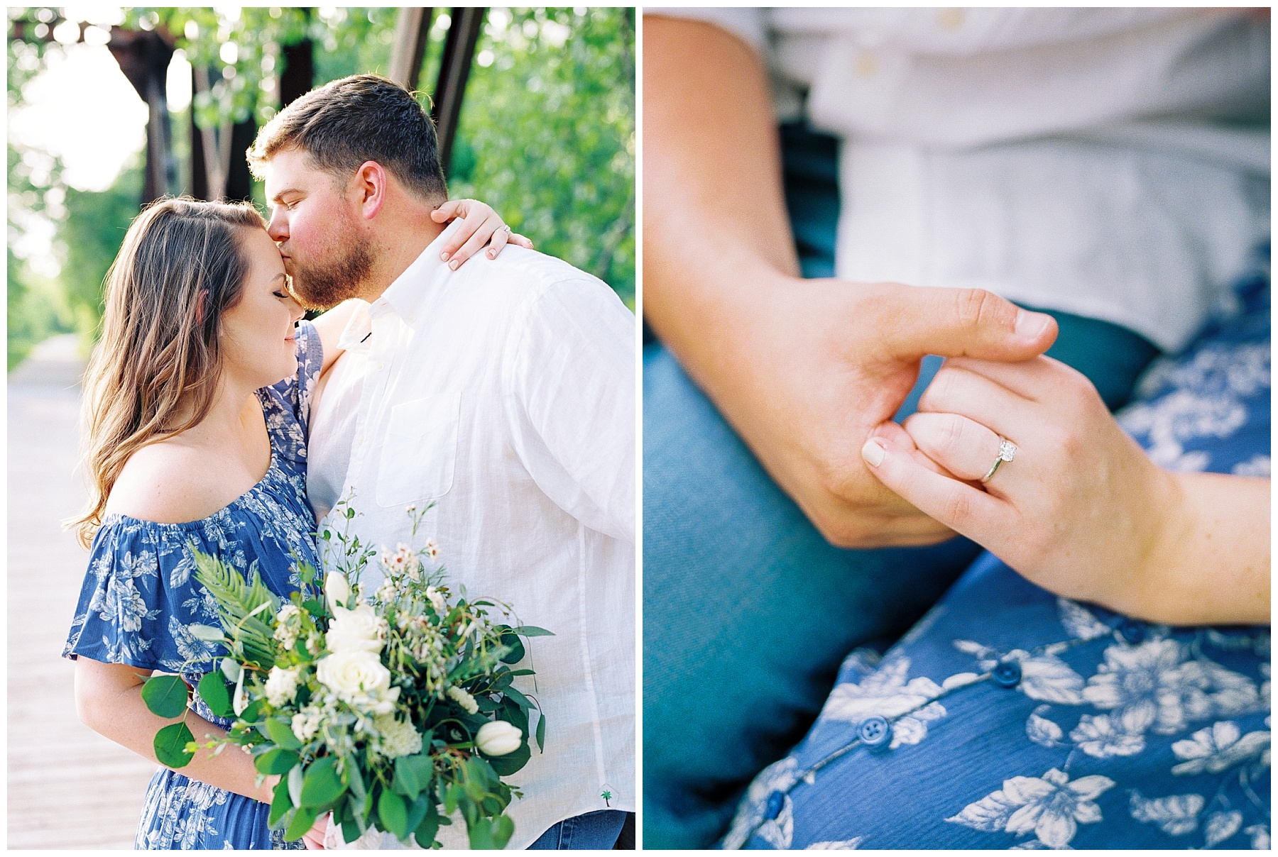 Flirty Spring Engagement Session with Floral Bouquet at Cooper's Landing by Kelsi Kliethermes Photography Best Missouri and Maui Wedding Photographer_0008.jpg