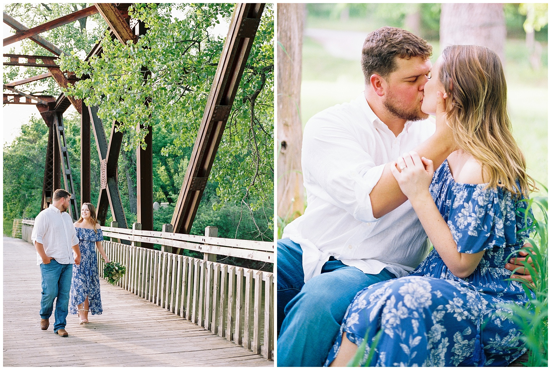 Flirty Spring Engagement Session with Floral Bouquet at Cooper's Landing by Kelsi Kliethermes Photography Best Missouri and Maui Wedding Photographer_0010.jpg