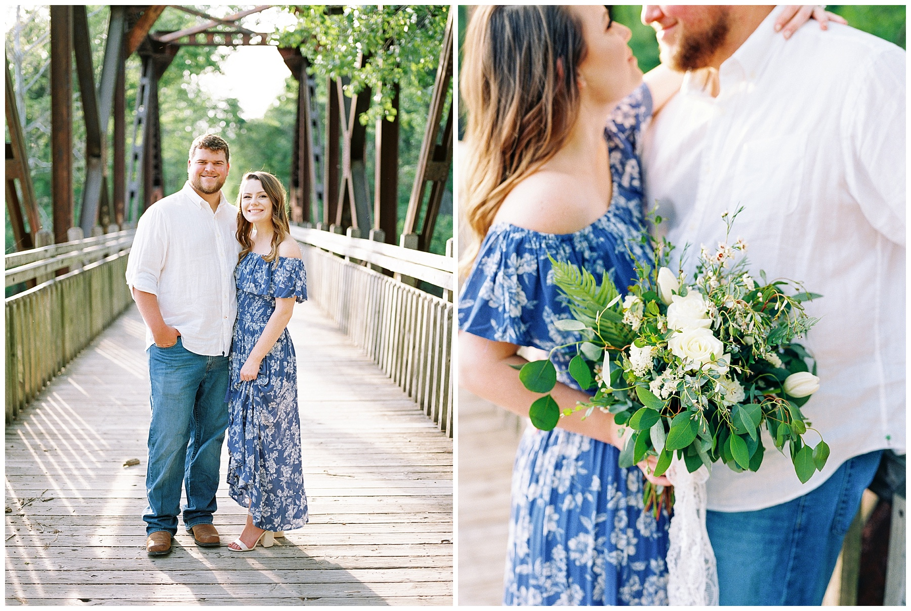 Flirty Spring Engagement Session with Floral Bouquet at Cooper's Landing by Kelsi Kliethermes Photography Best Missouri and Maui Wedding Photographer_0012.jpg