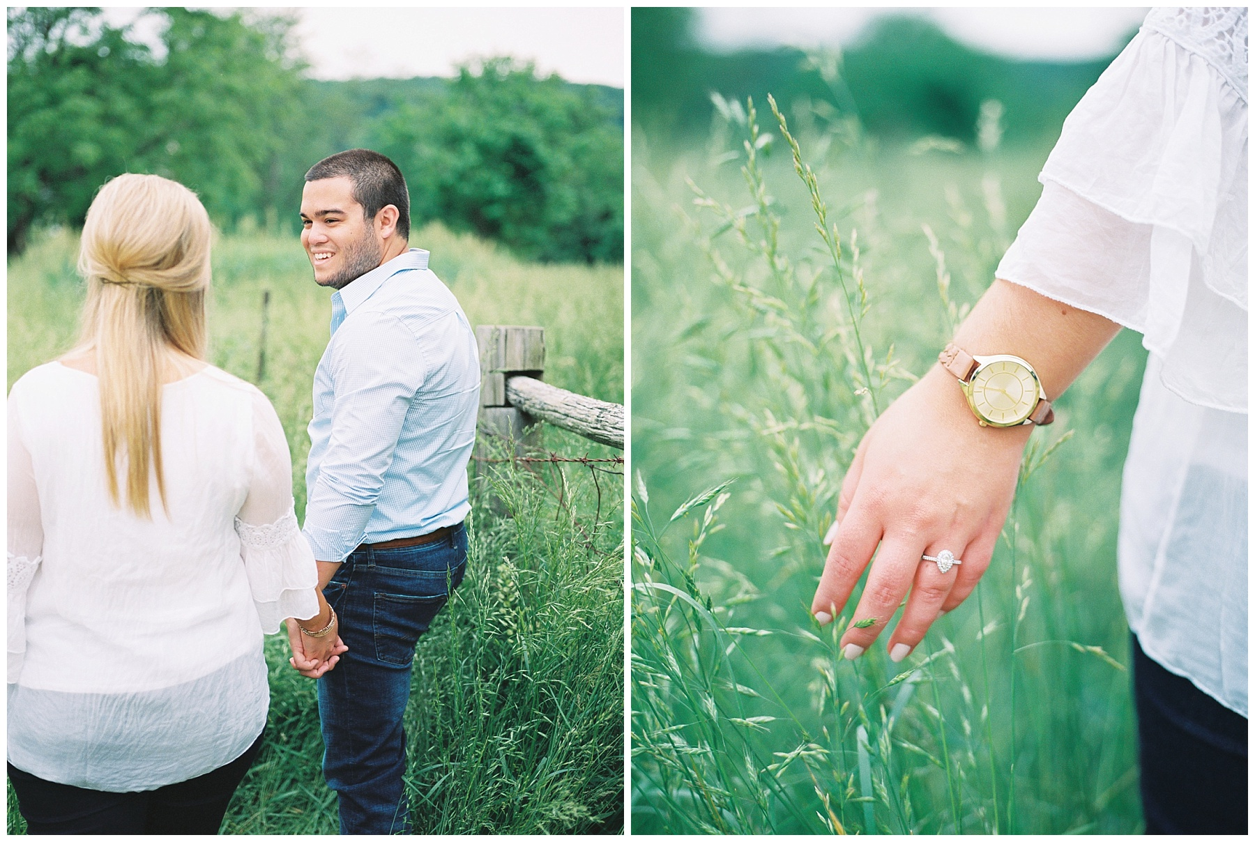 Dusty Rose and Deep Green Rolling Hills Engagement Session by Kelsi Kliethermes Photography Best Missouri and Maui Wedding Photographer_0013.jpg