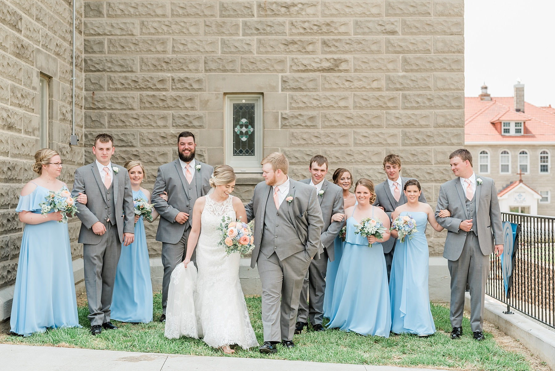Peach and Dusty Blue Spring Wedding in Rolling Hills of Mid Missouri by Kelsi Kliethermes Photography Best Missouri and Maui Wedding Photographer_0006.jpg