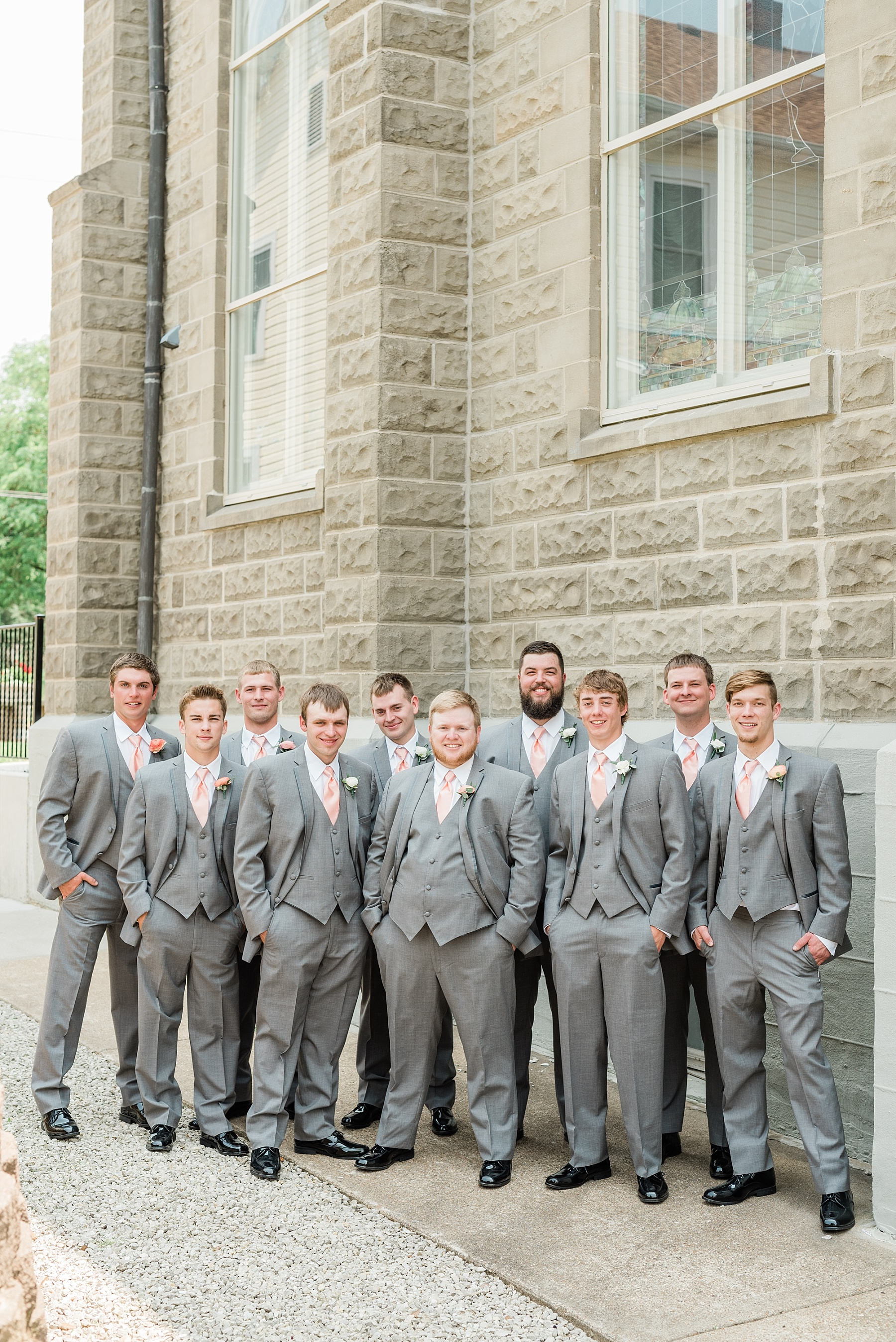 Peach and Dusty Blue Spring Wedding in Rolling Hills of Mid Missouri by Kelsi Kliethermes Photography Best Missouri and Maui Wedding Photographer_0039.jpg