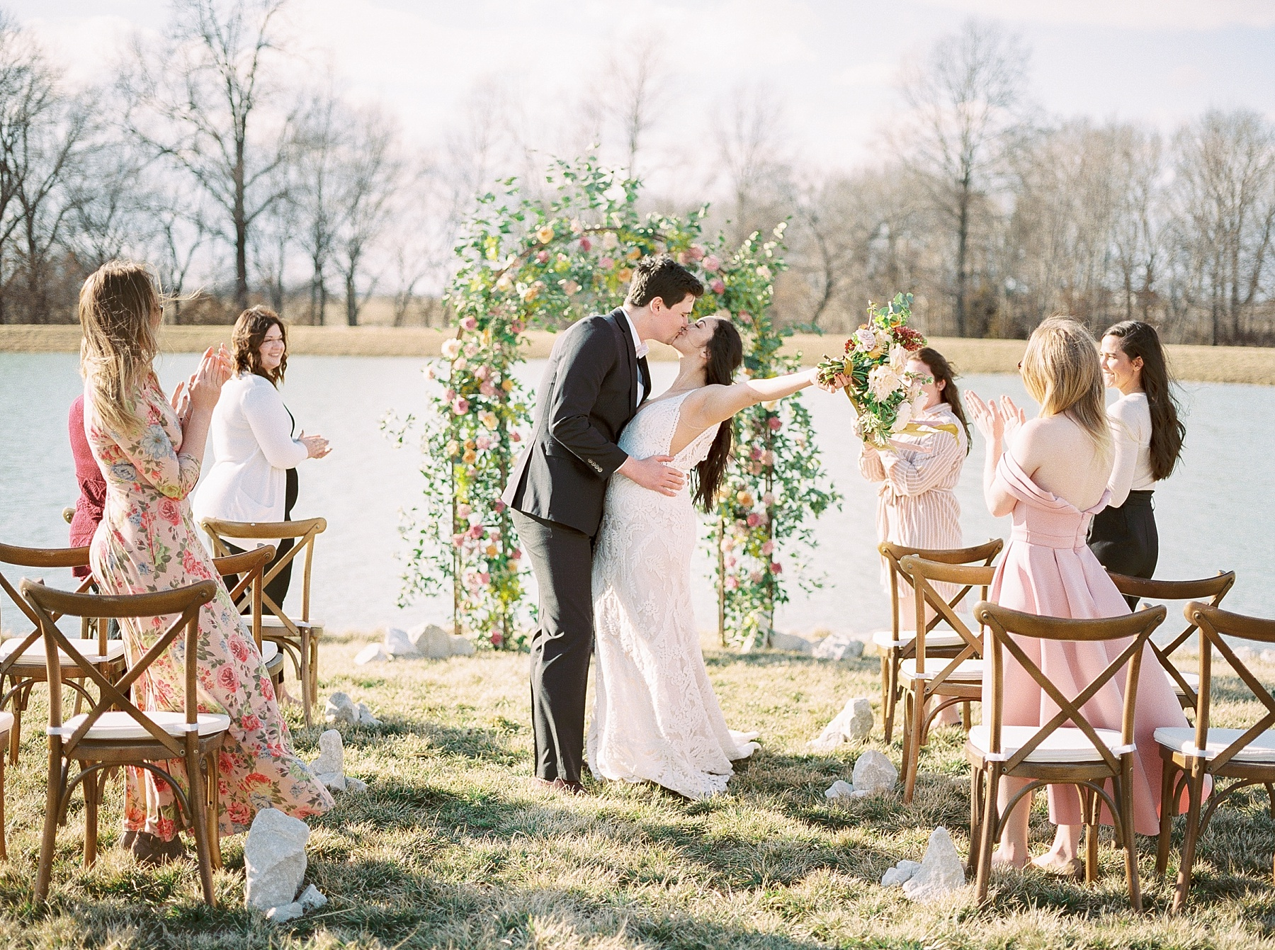 Intimate Lakeside Elopement at Emerson Fields All White Wedding Venue by Kelsi Kliethermes Photography Best Missouri and Maui Wedding Photographer_0020.jpg