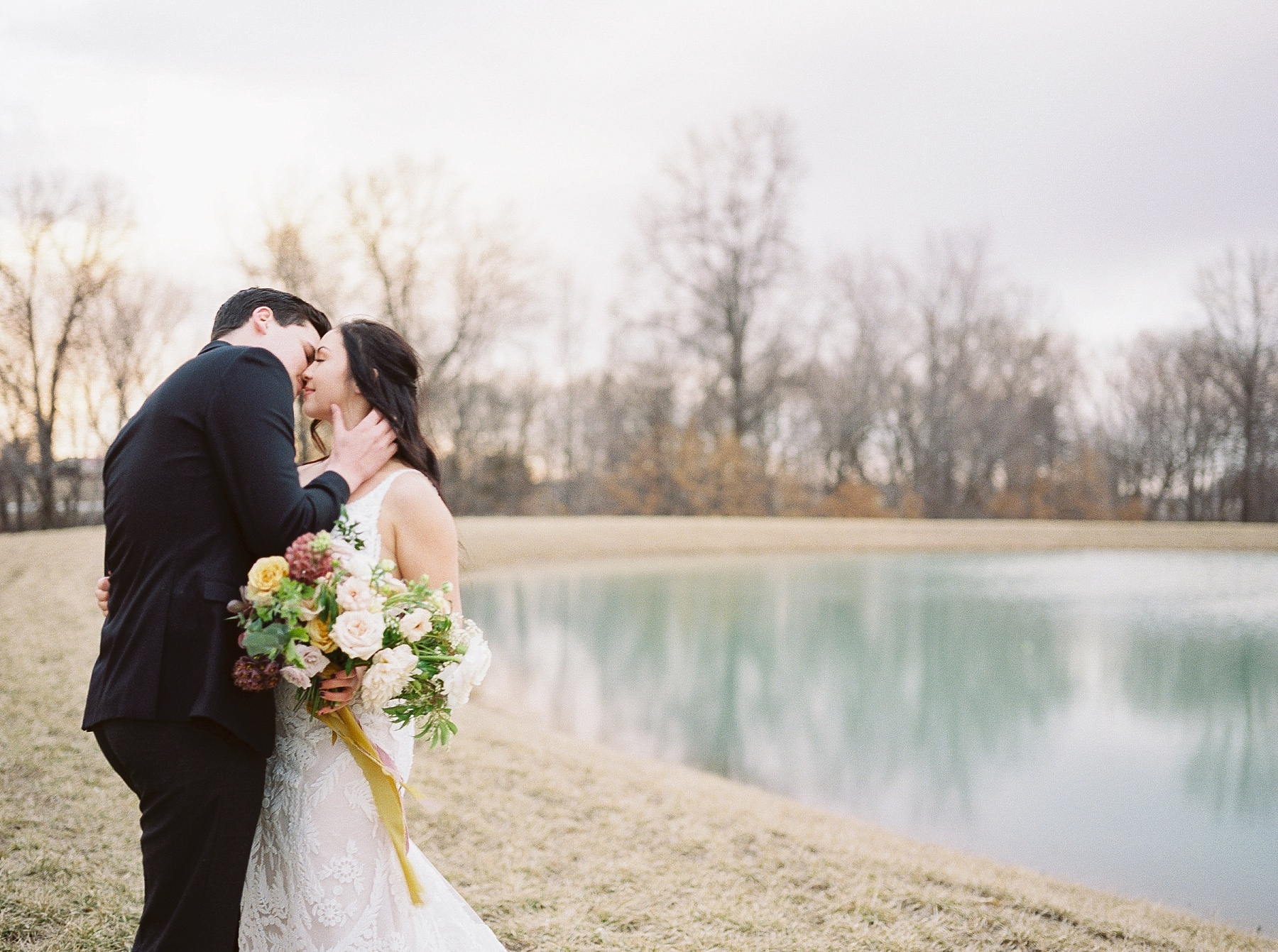 Intimate Lakeside Elopement at Emerson Fields All White Wedding Venue by Kelsi Kliethermes Photography Best Missouri and Maui Wedding Photographer_0026.jpg