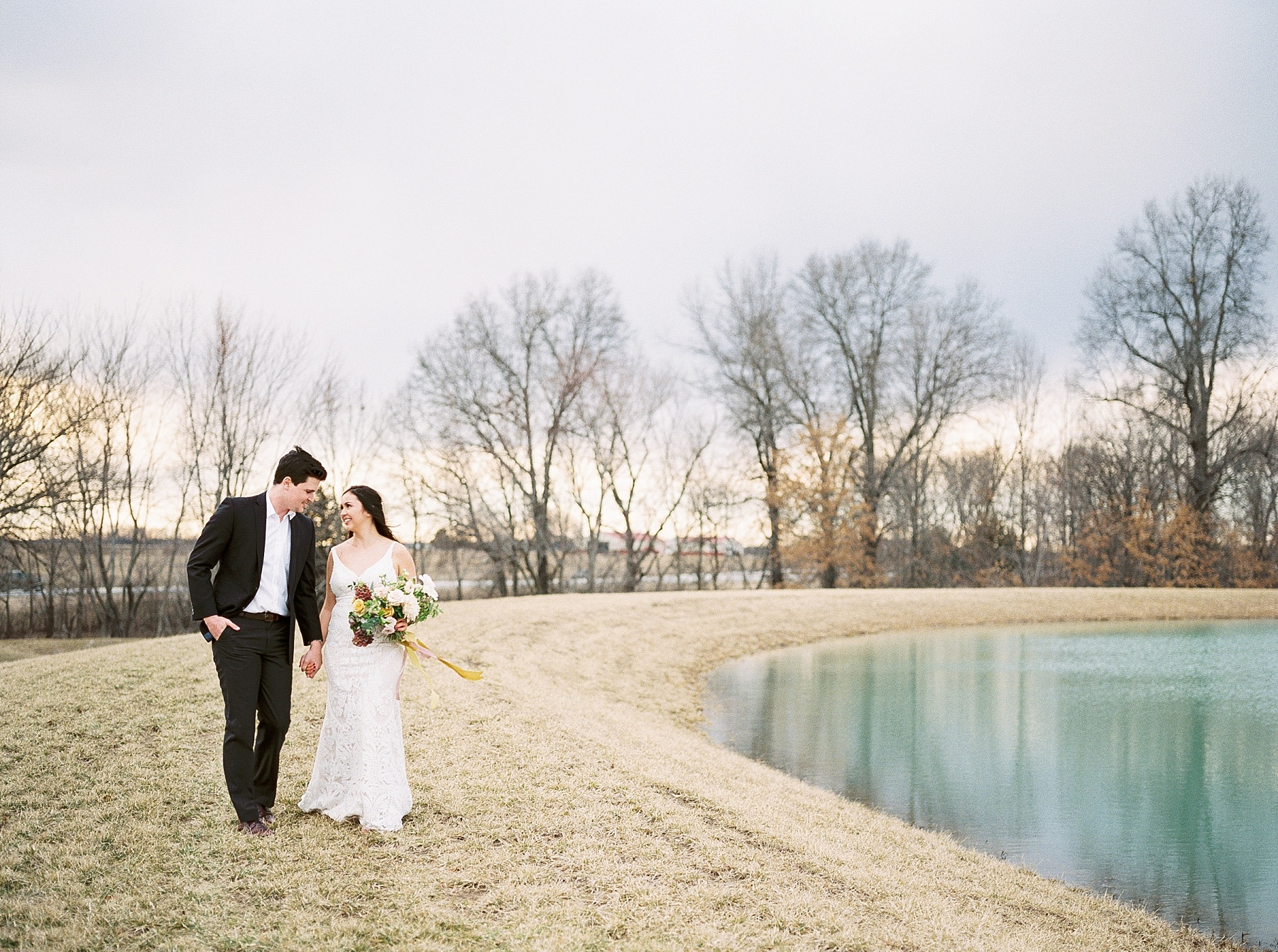 Intimate Lakeside Elopement at Emerson Fields All White Wedding Venue by Kelsi Kliethermes Photography Best Missouri and Maui Wedding Photographer_0027.jpg