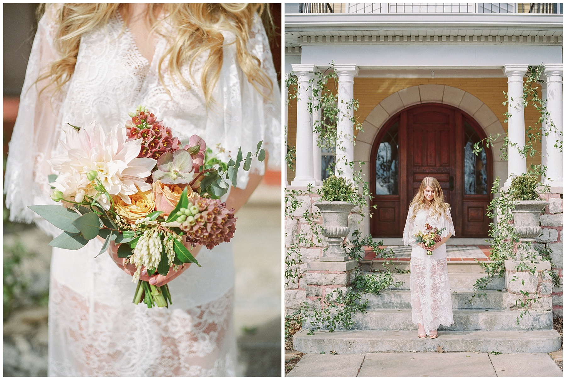 Natural, Intimate, and Organic Bridal Session on Steps of Century Old Bed and Breakfast by Kelsi Kliethermes Photography Best Missouri and Maui Wedding Photographer_0001.jpg