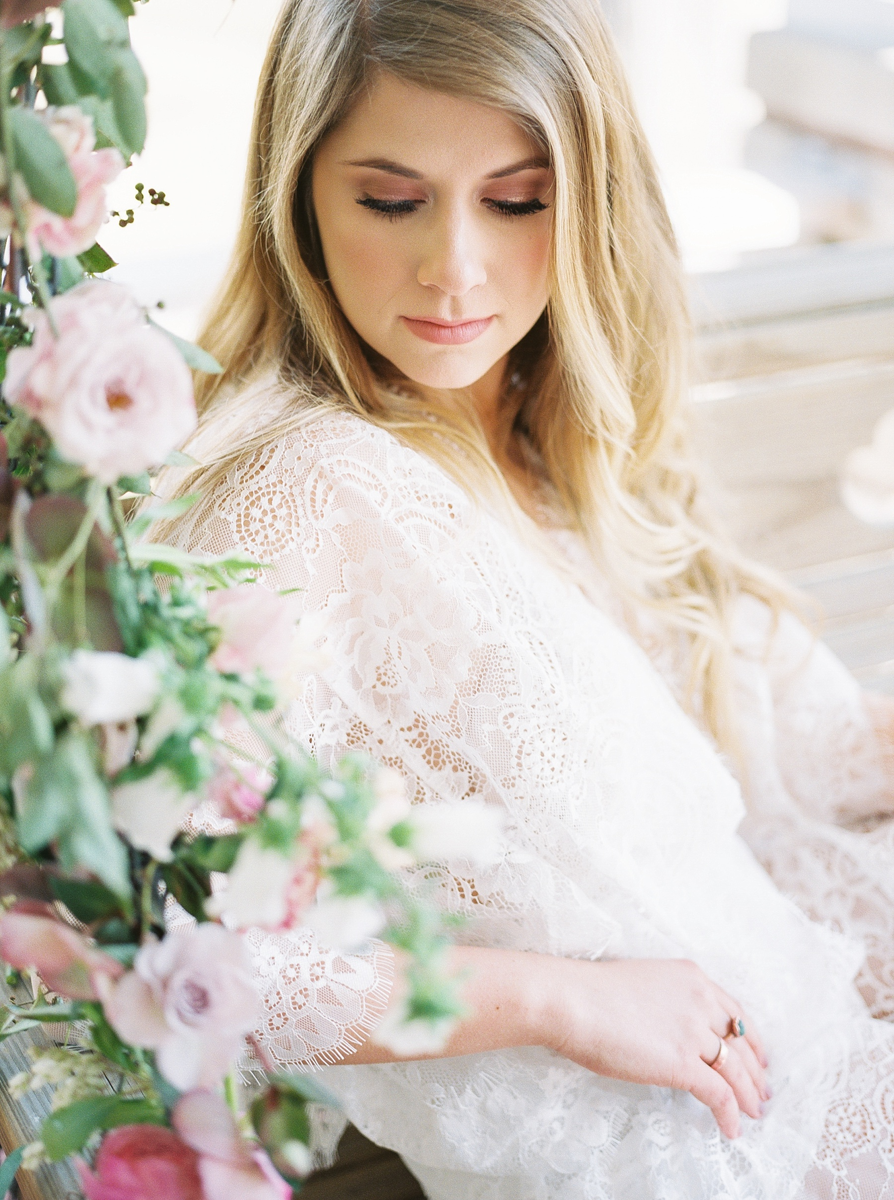 Natural, Intimate, and Organic Bridal Session on Steps of Century Old Bed and Breakfast by Kelsi Kliethermes Photography Best Missouri and Maui Wedding Photographer_0020.jpg