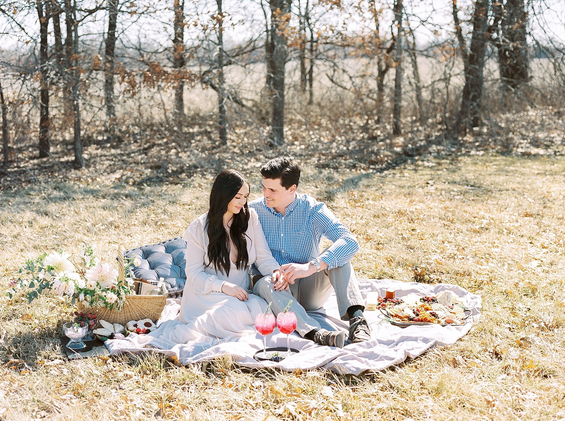 Late Fall Farm-to-table Inspired Brunch Picnic Engagement Session During Wedding Weekend by Kelsi Kliethermes Photography Best Missouri and Maui Wedding Photographer_0006.jpg