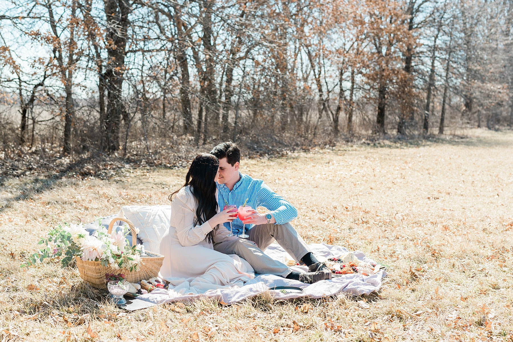 Late Fall Farm-to-table Inspired Brunch Picnic Engagement Session During Wedding Weekend by Kelsi Kliethermes Photography Best Missouri and Maui Wedding Photographer_0012.jpg