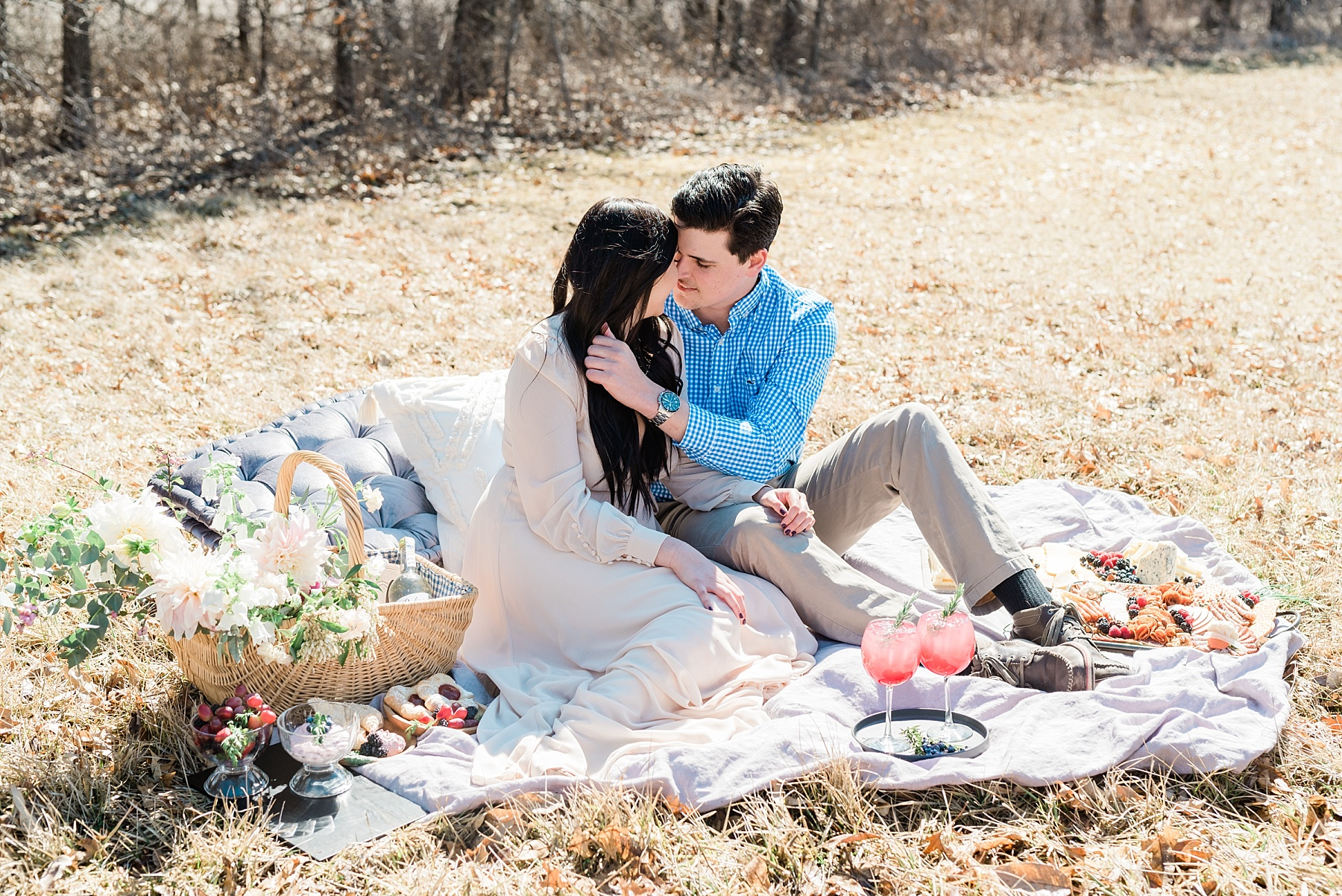 Late Fall Farm-to-table Inspired Brunch Picnic Engagement Session During Wedding Weekend by Kelsi Kliethermes Photography Best Missouri and Maui Wedding Photographer_0013.jpg