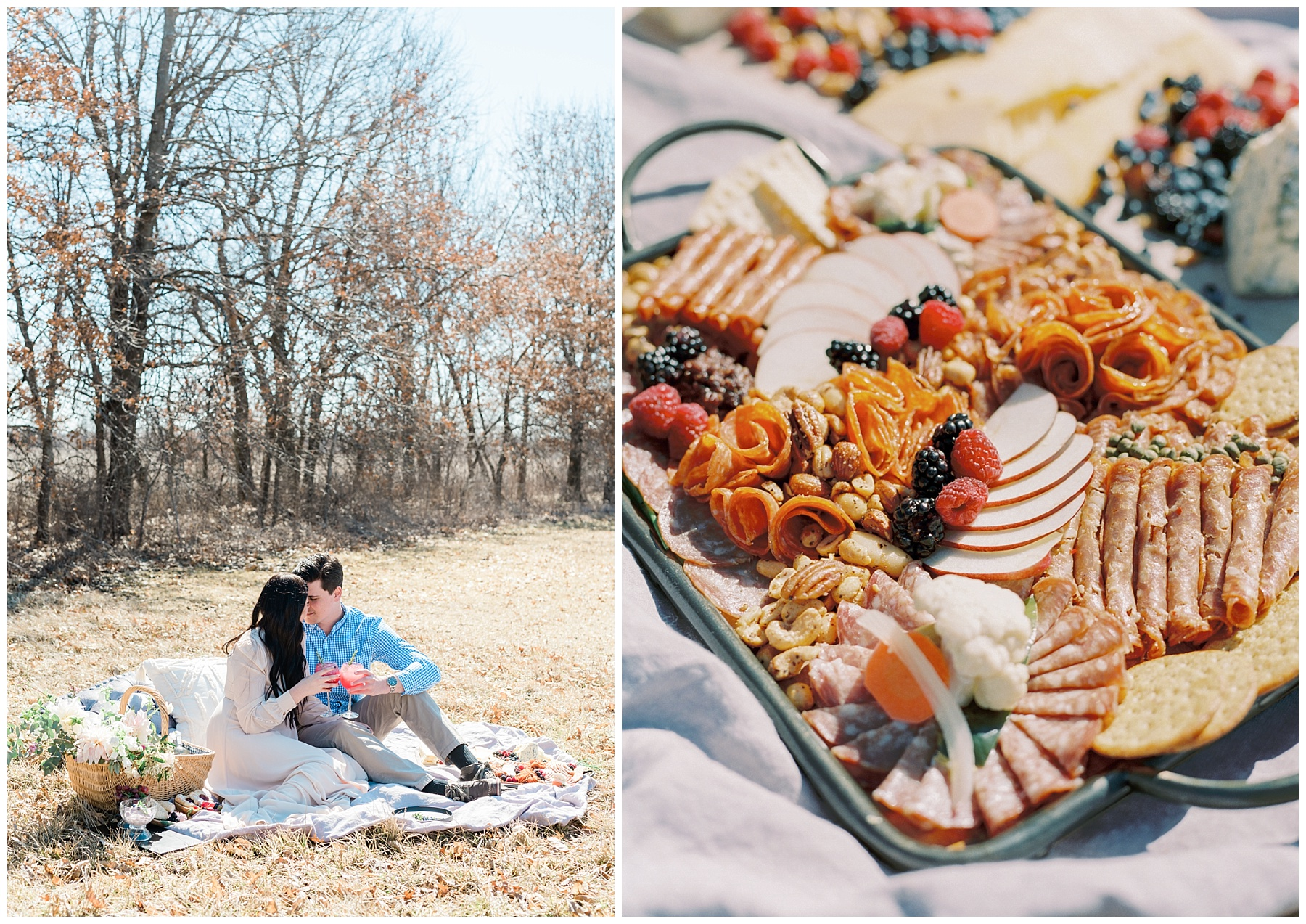 Late Fall Farm-to-table Inspired Brunch Picnic Engagement Session During Wedding Weekend by Kelsi Kliethermes Photography Best Missouri and Maui Wedding Photographer_0019.jpg