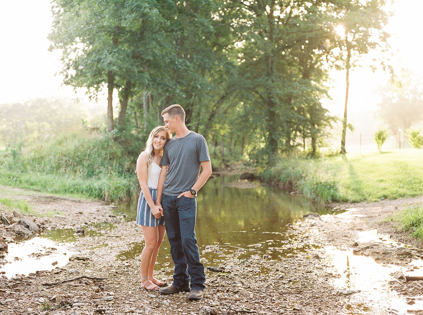 Golden Hour Summer Engagement Session at Lakeside Valley and Vineyards at Kempkers Back 40 by Kelsi Kliethermes Photography Best Missouri and Maui Wedding Photographer_0007.jpg