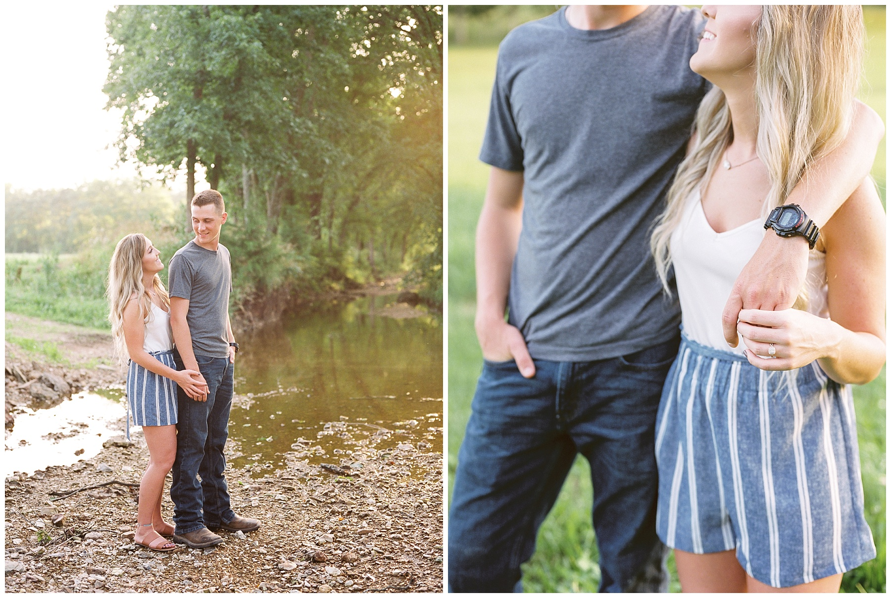 Golden Hour Summer Engagement Session at Lakeside Valley and Vineyards at Kempkers Back 40 by Kelsi Kliethermes Photography Best Missouri and Maui Wedding Photographer_0014.jpg