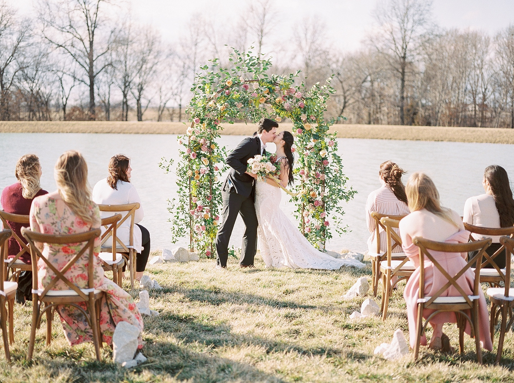 Lakeside Sunset Wedding with Magnificent Abundance of Blooms at Emerson Fields by Kelsi Kliethermes Photography Best Missouri and Maui Wedding Photographer_0009.jpg