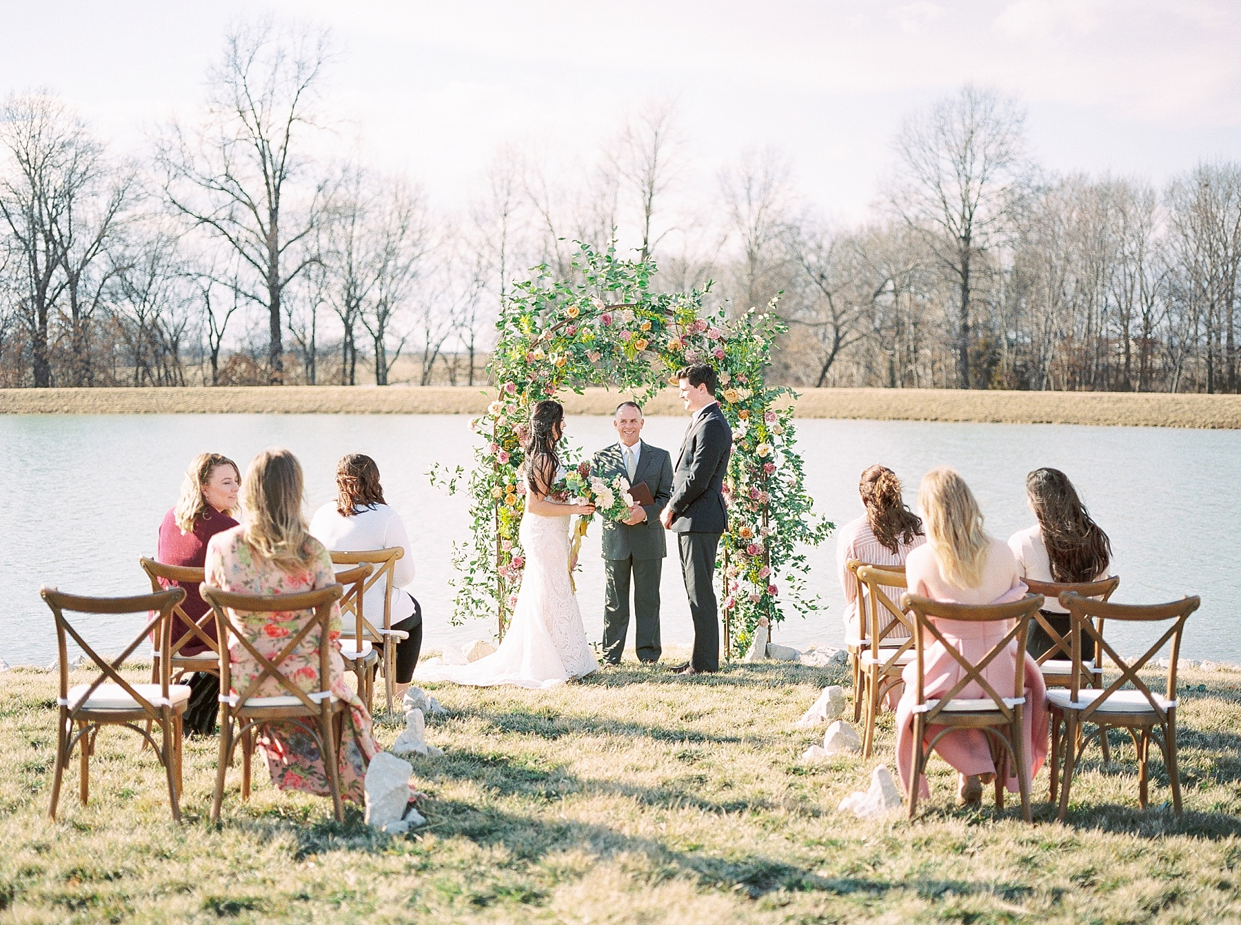 Lakeside Sunset Wedding with Magnificent Abundance of Blooms at Emerson Fields by Kelsi Kliethermes Photography Best Missouri and Maui Wedding Photographer_0010.jpg