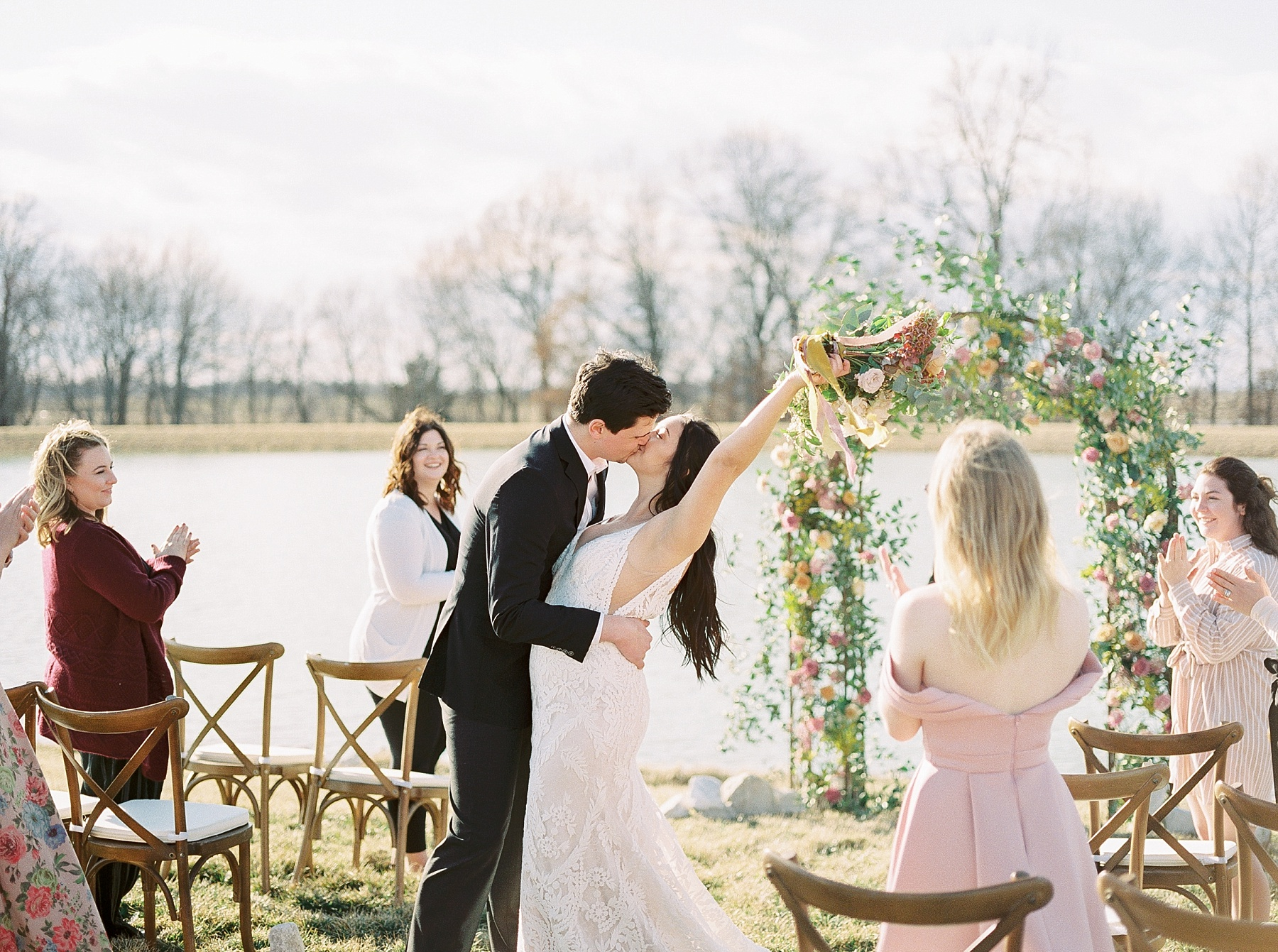 Lakeside Sunset Wedding with Magnificent Abundance of Blooms at Emerson Fields by Kelsi Kliethermes Photography Best Missouri and Maui Wedding Photographer_0011.jpg