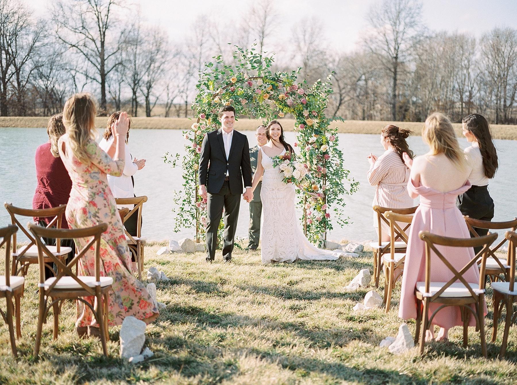 Lakeside Sunset Wedding with Magnificent Abundance of Blooms at Emerson Fields by Kelsi Kliethermes Photography Best Missouri and Maui Wedding Photographer_0012.jpg