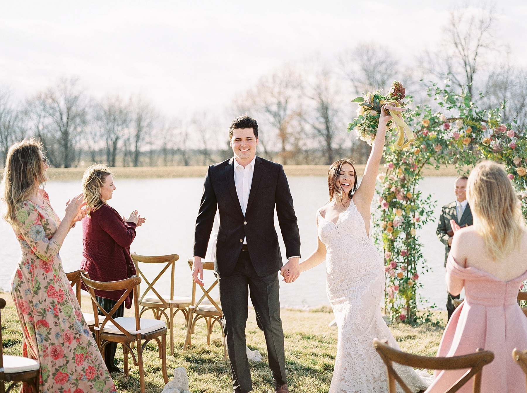 Lakeside Sunset Wedding with Magnificent Abundance of Blooms at Emerson Fields by Kelsi Kliethermes Photography Best Missouri and Maui Wedding Photographer_0014.jpg