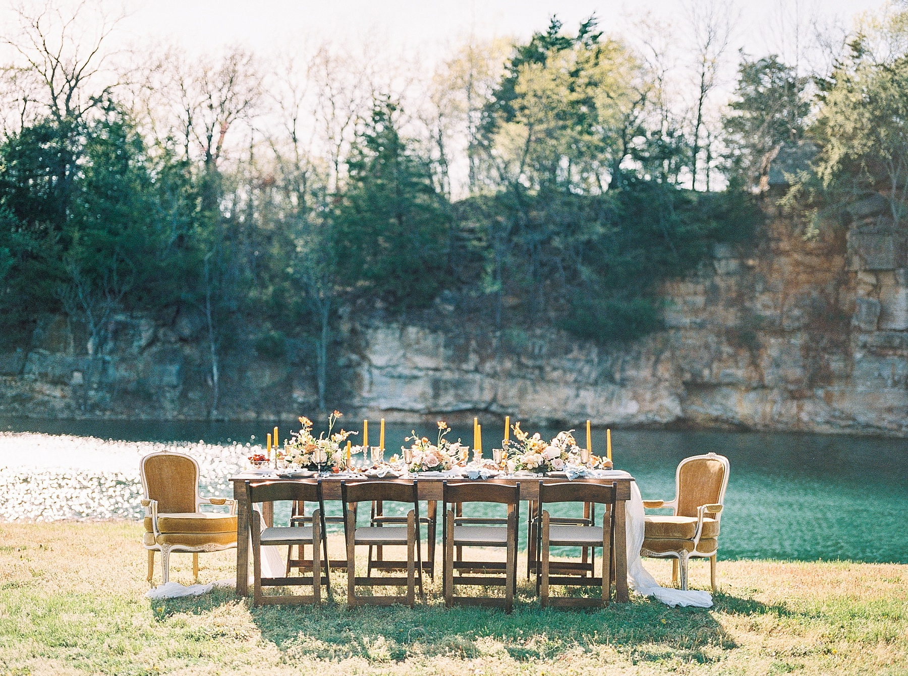 Intimate Spanish and French Inspired Destination Wedding with Lakeside Dinner Party at Dusk at Wildcliff by Kelsi Kliethermes Photography Best Missouri and Maui Wedding Photographer_0008.jpg