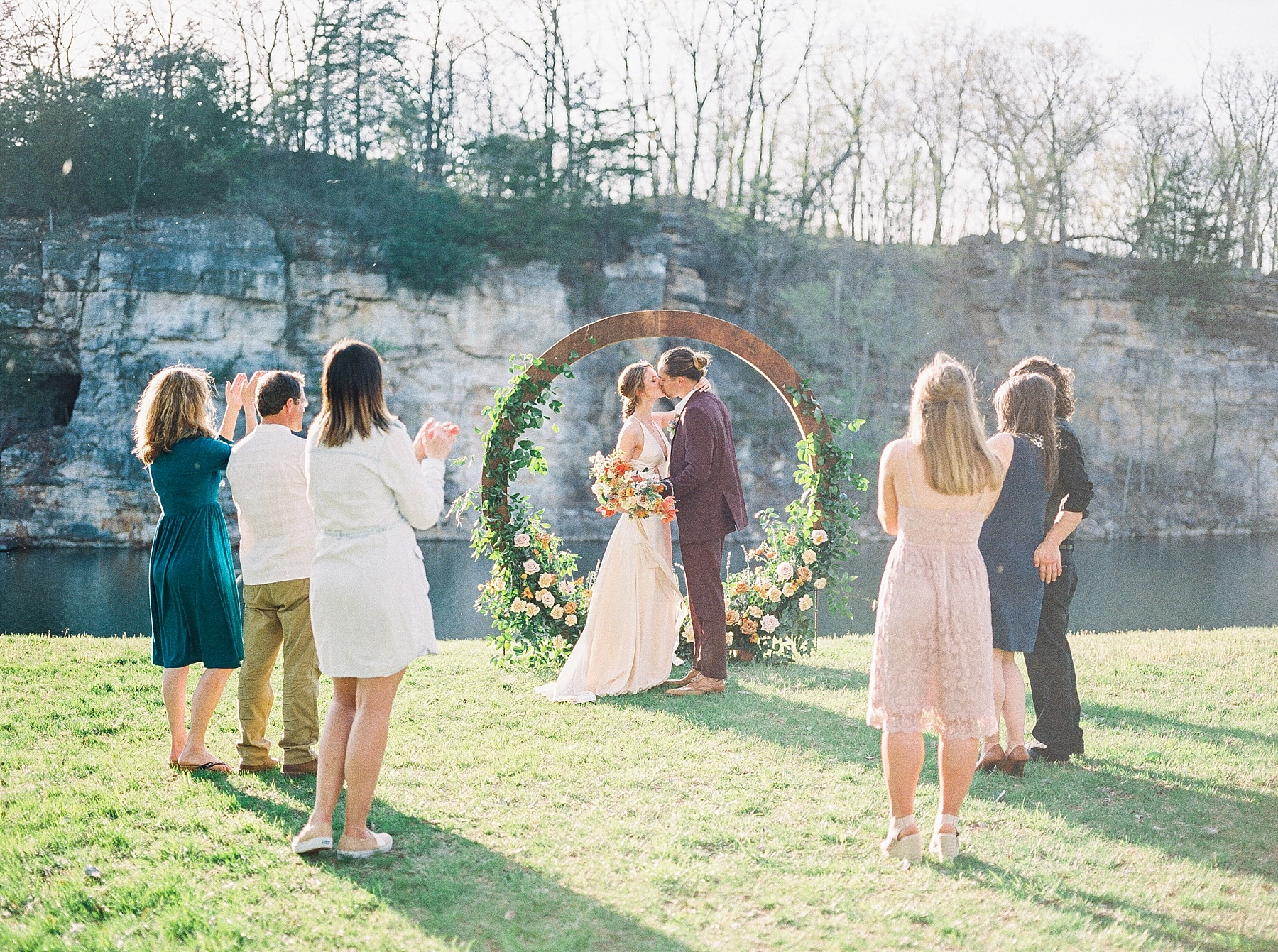 Intimate Spanish and French Inspired Destination Wedding with Lakeside Dinner Party at Dusk at Wildcliff by Kelsi Kliethermes Photography Best Missouri and Maui Wedding Photographer_0010.jpg