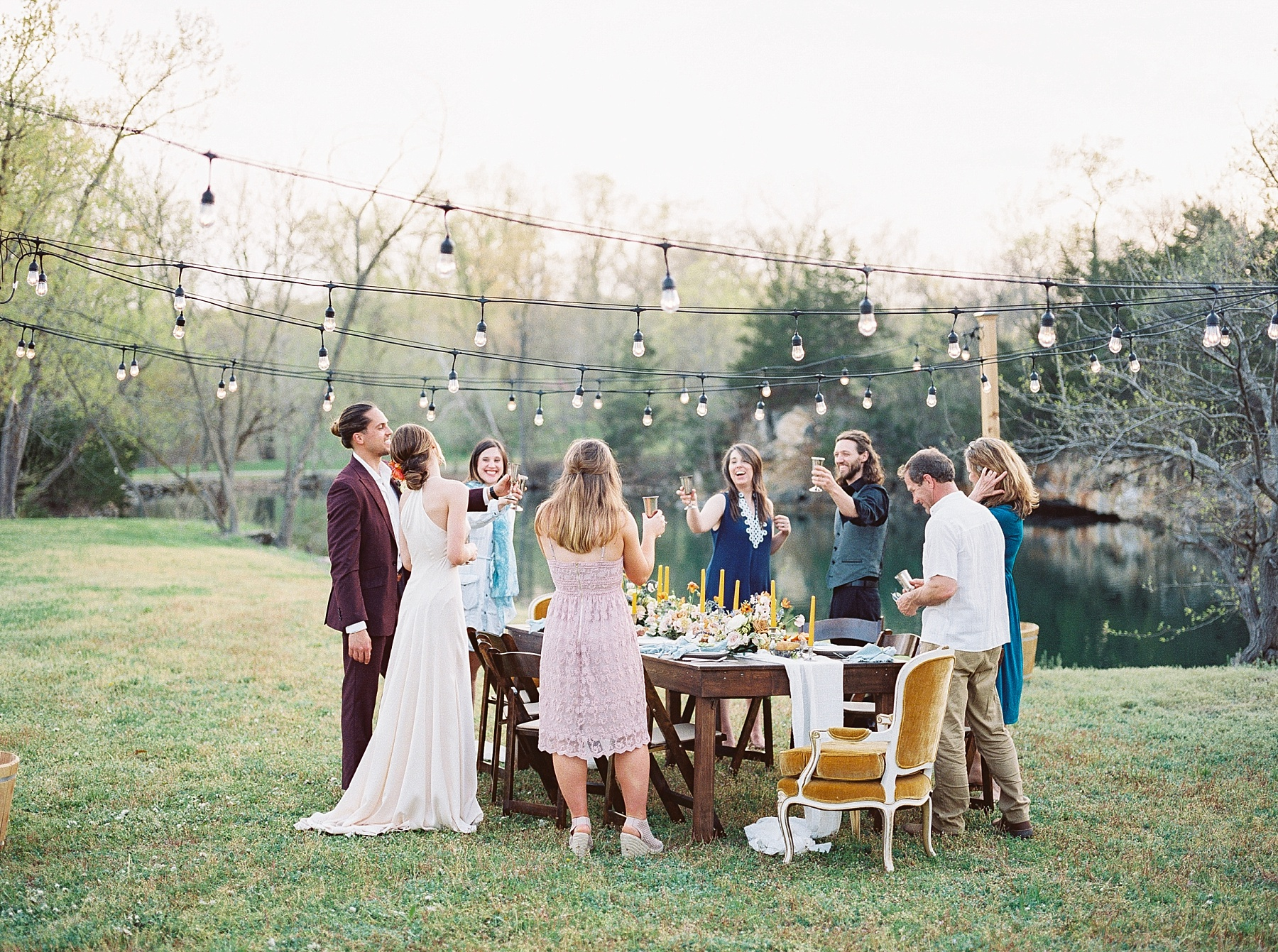 Intimate Spanish and French Inspired Destination Wedding with Lakeside Dinner Party at Dusk at Wildcliff by Kelsi Kliethermes Photography Best Missouri and Maui Wedding Photographer_0013.jpg