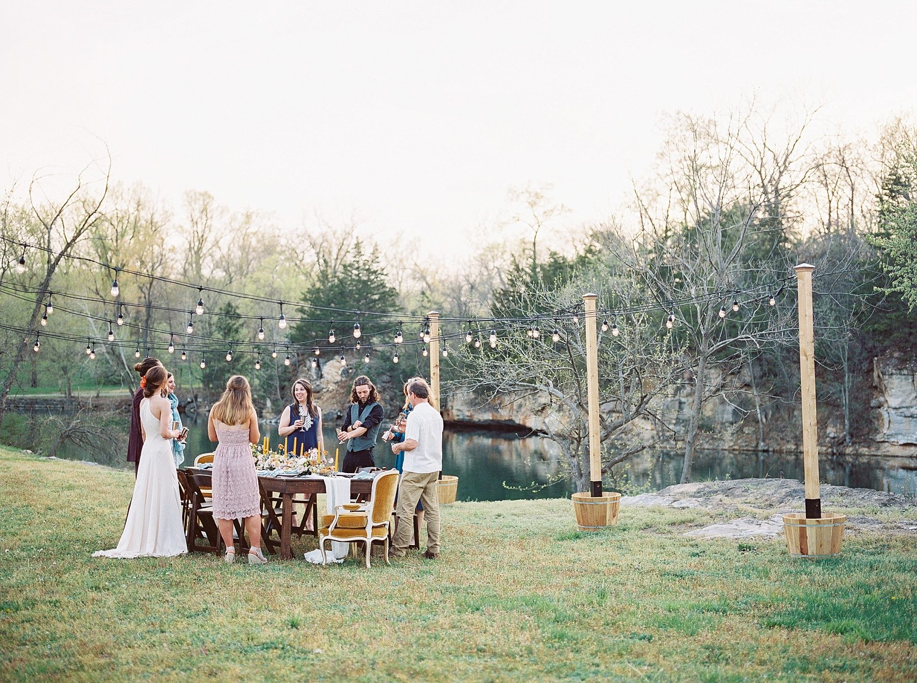 Intimate Spanish and French Inspired Destination Wedding with Lakeside Dinner Party at Dusk at Wildcliff by Kelsi Kliethermes Photography Best Missouri and Maui Wedding Photographer_0015.jpg