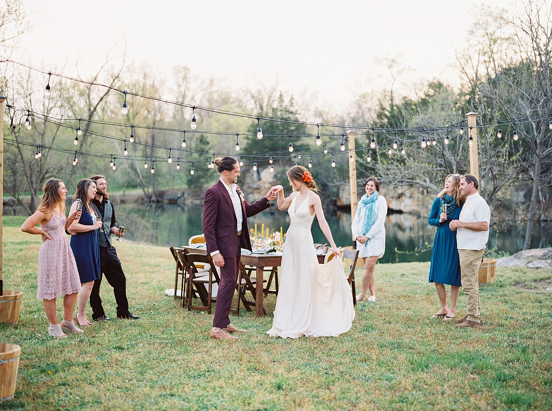 Intimate Spanish and French Inspired Destination Wedding with Lakeside Dinner Party at Dusk at Wildcliff by Kelsi Kliethermes Photography Best Missouri and Maui Wedding Photographer_0016.jpg