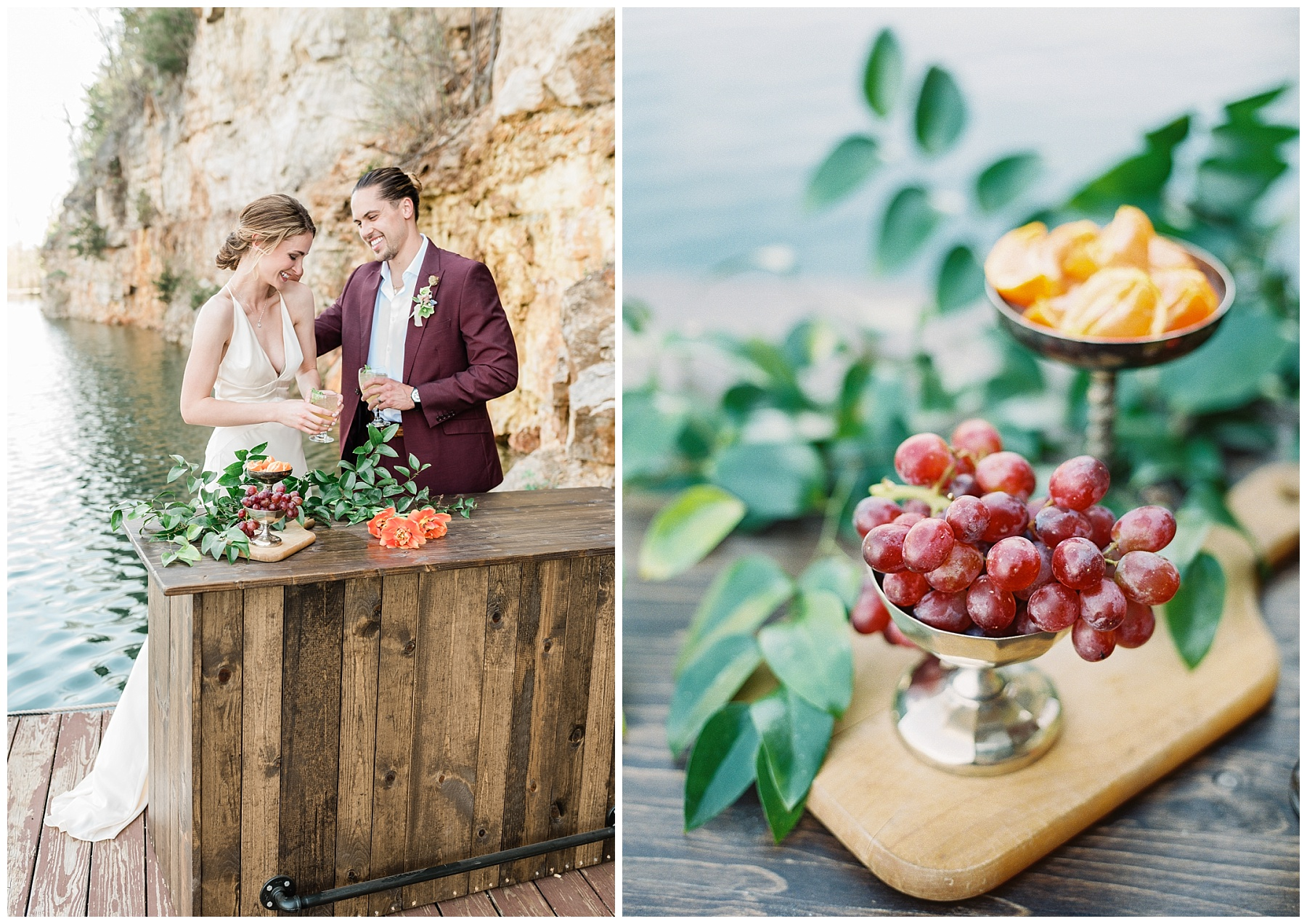 Intimate Spanish and French Inspired Destination Wedding with Lakeside Dinner Party at Dusk at Wildcliff by Kelsi Kliethermes Photography Best Missouri and Maui Wedding Photographer_0026.jpg