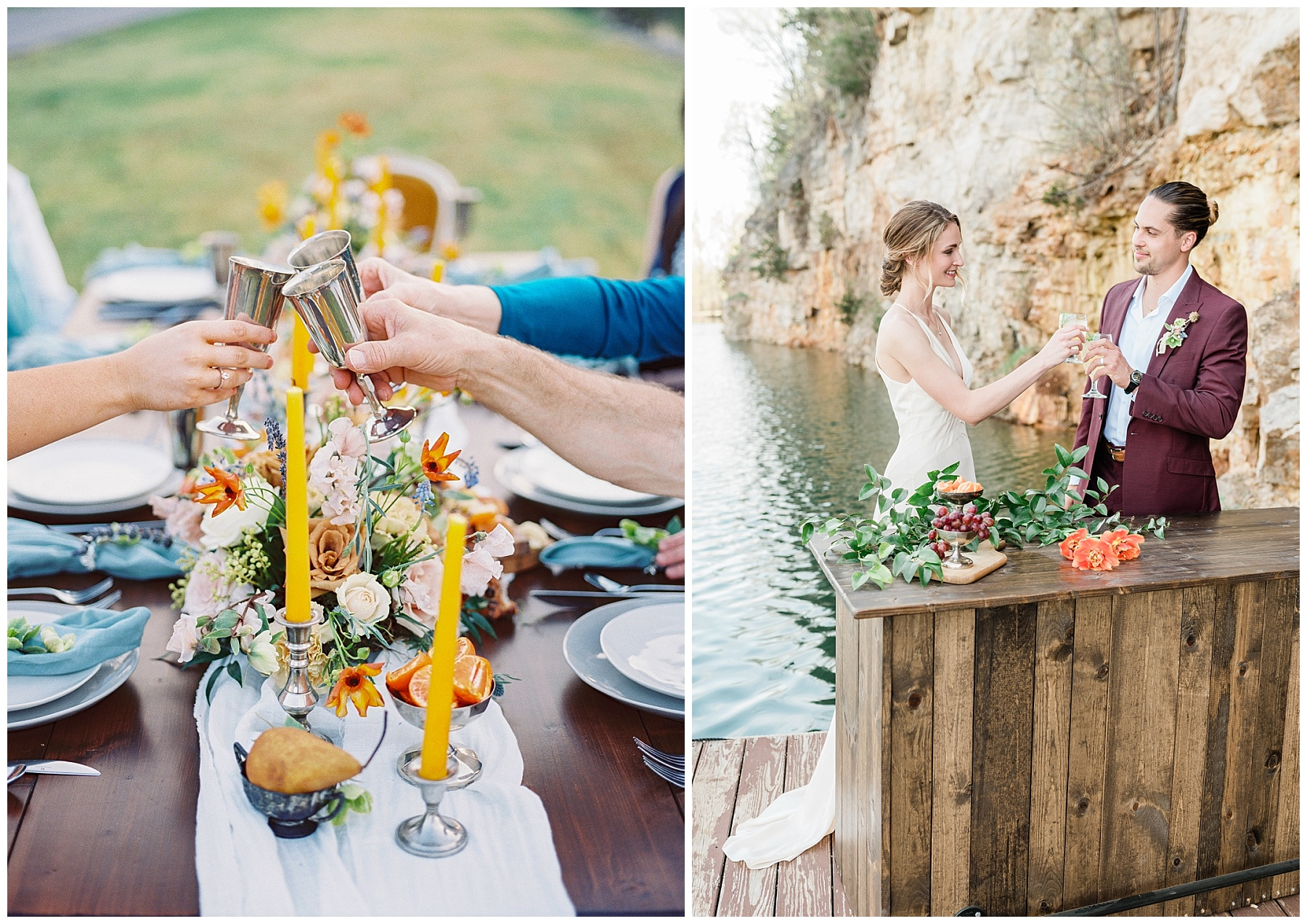 Intimate Spanish and French Inspired Destination Wedding with Lakeside Dinner Party at Dusk at Wildcliff by Kelsi Kliethermes Photography Best Missouri and Maui Wedding Photographer_0027.jpg