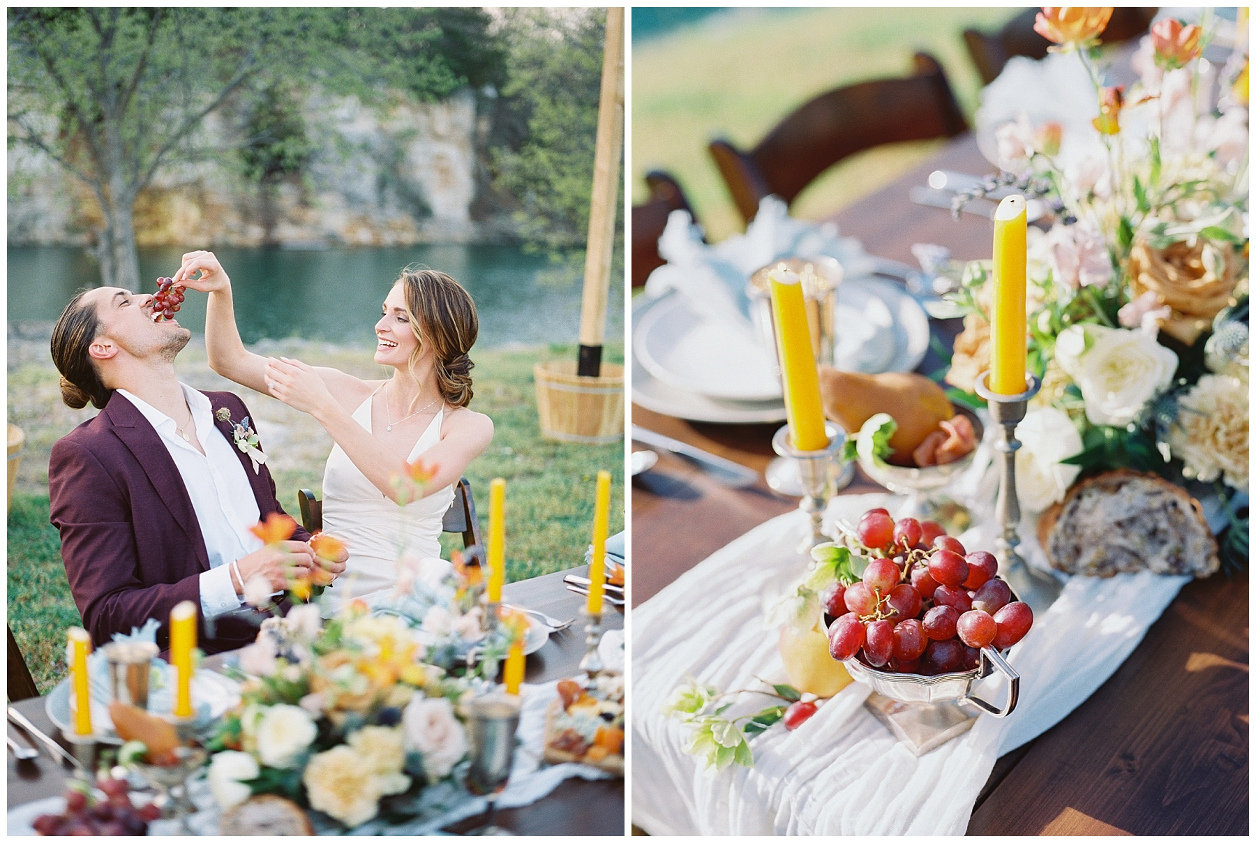 Intimate Spanish and French Inspired Destination Wedding with Lakeside Dinner Party at Dusk at Wildcliff by Kelsi Kliethermes Photography Best Missouri and Maui Wedding Photographer_0042.jpg