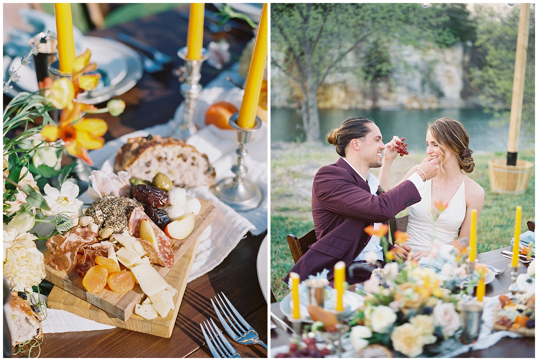 Intimate Spanish and French Inspired Destination Wedding with Lakeside Dinner Party at Dusk at Wildcliff by Kelsi Kliethermes Photography Best Missouri and Maui Wedding Photographer_0043.jpg