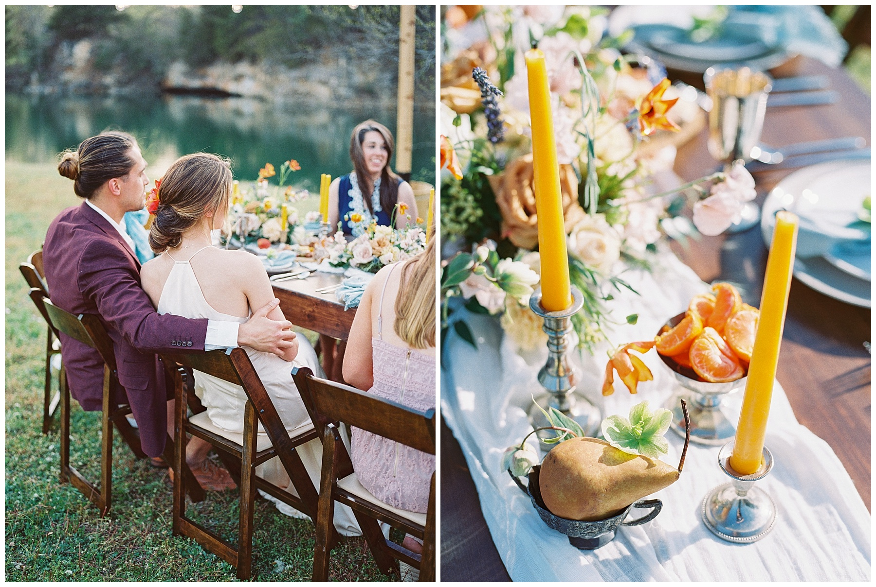 Intimate Spanish and French Inspired Destination Wedding with Lakeside Dinner Party at Dusk at Wildcliff by Kelsi Kliethermes Photography Best Missouri and Maui Wedding Photographer_0044.jpg