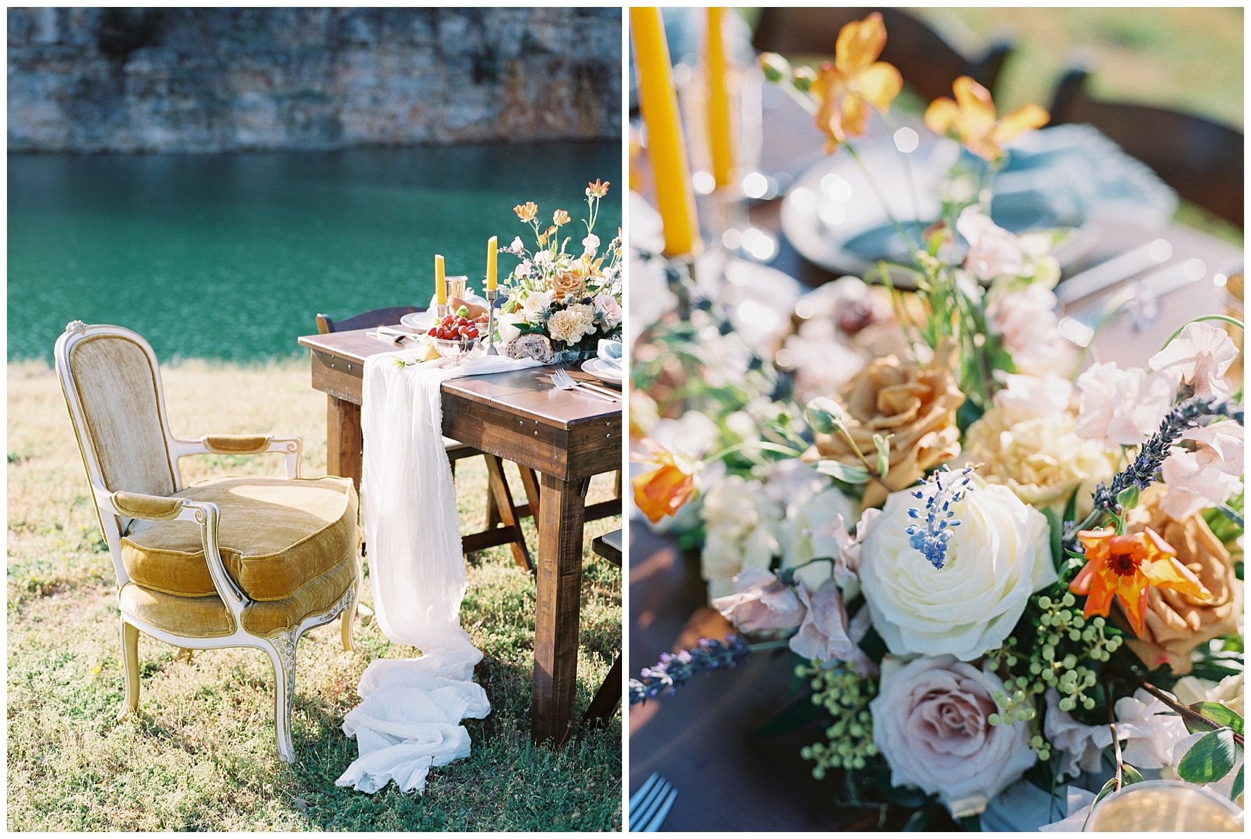 Intimate Spanish and French Inspired Destination Wedding with Lakeside Dinner Party at Dusk at Wildcliff by Kelsi Kliethermes Photography Best Missouri and Maui Wedding Photographer_0045.jpg