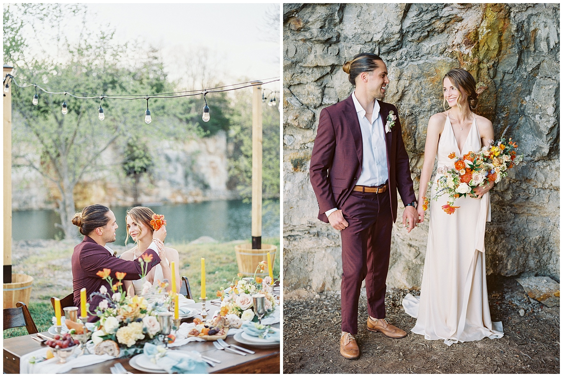 Intimate Spanish and French Inspired Destination Wedding with Lakeside Dinner Party at Dusk at Wildcliff by Kelsi Kliethermes Photography Best Missouri and Maui Wedding Photographer_0046.jpg